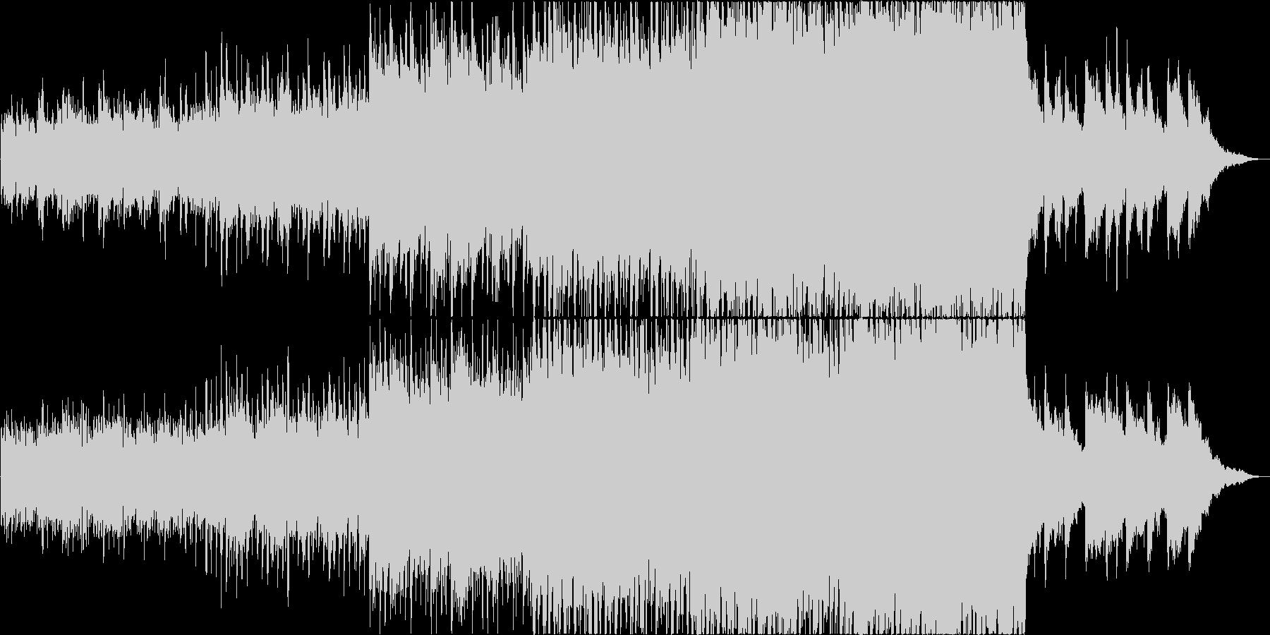 ピアノとアコギが主体の映像的な曲の未再生の波形