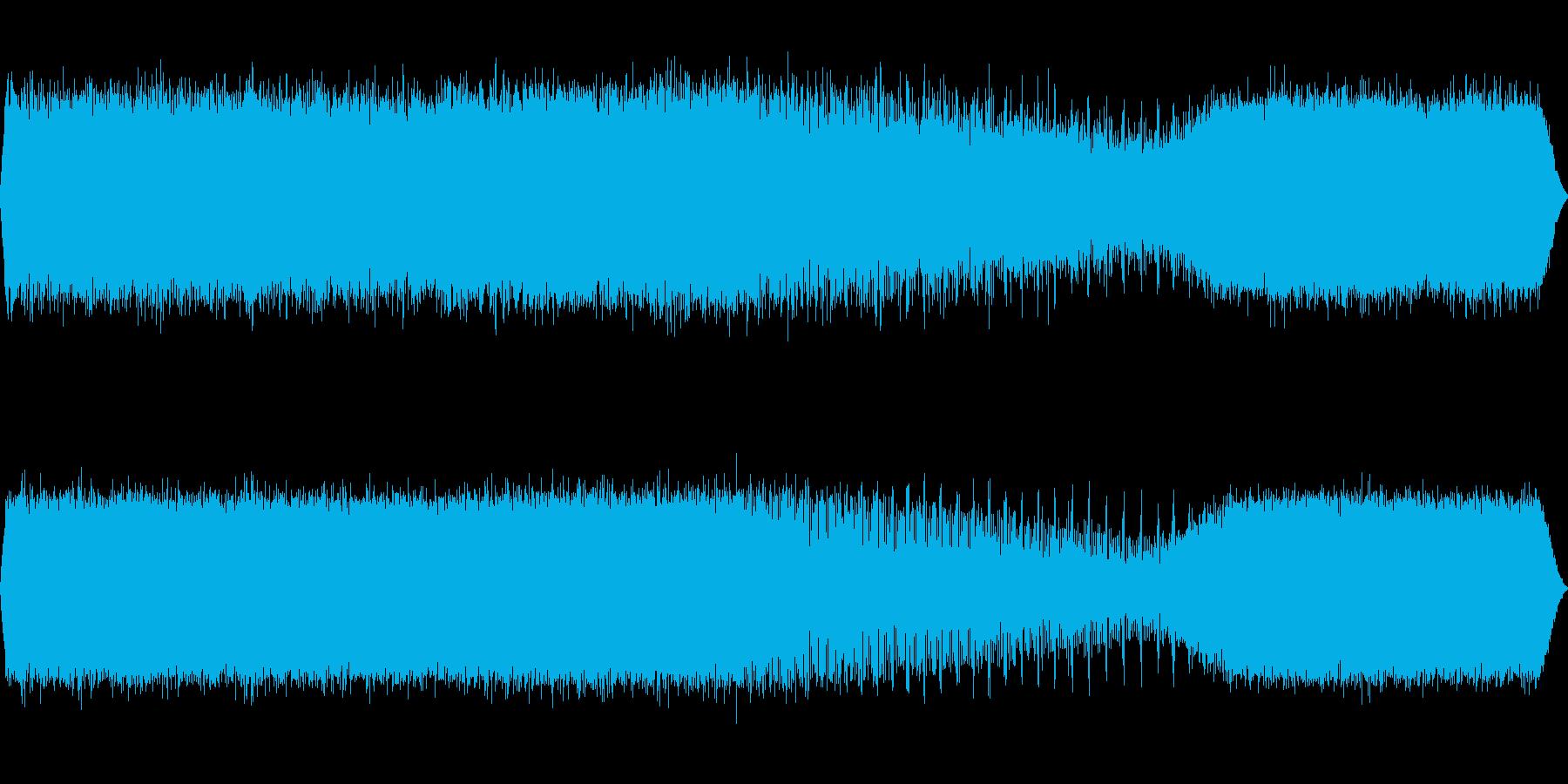 アブラゼミの鳴き声(近距離で合唱)の再生済みの波形