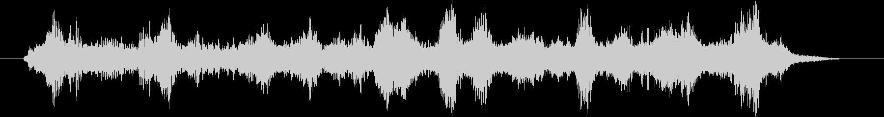 近未来的な神秘的な音楽の未再生の波形