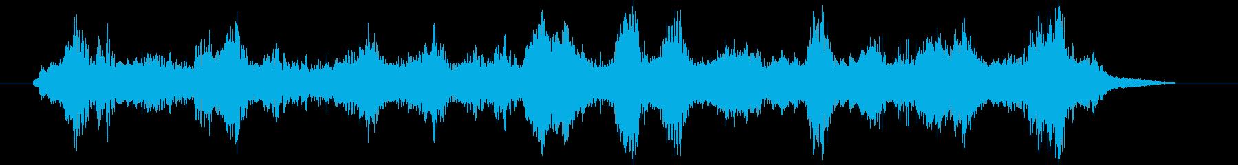 近未来的な神秘的な音楽の再生済みの波形