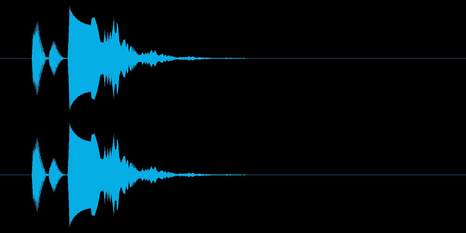 【アクセント42-3】の再生済みの波形