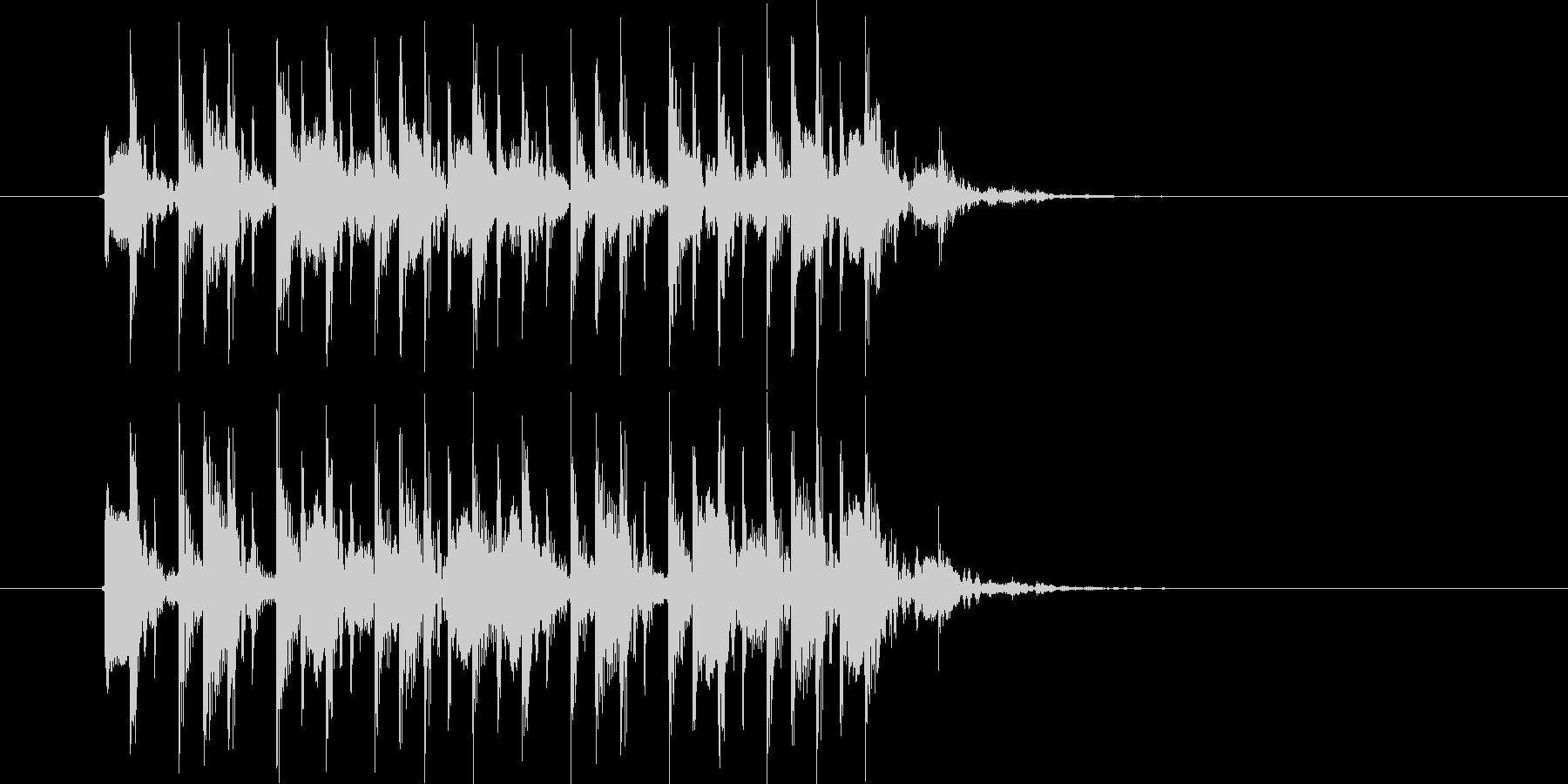 流暢で軽快なシンセジングルの未再生の波形