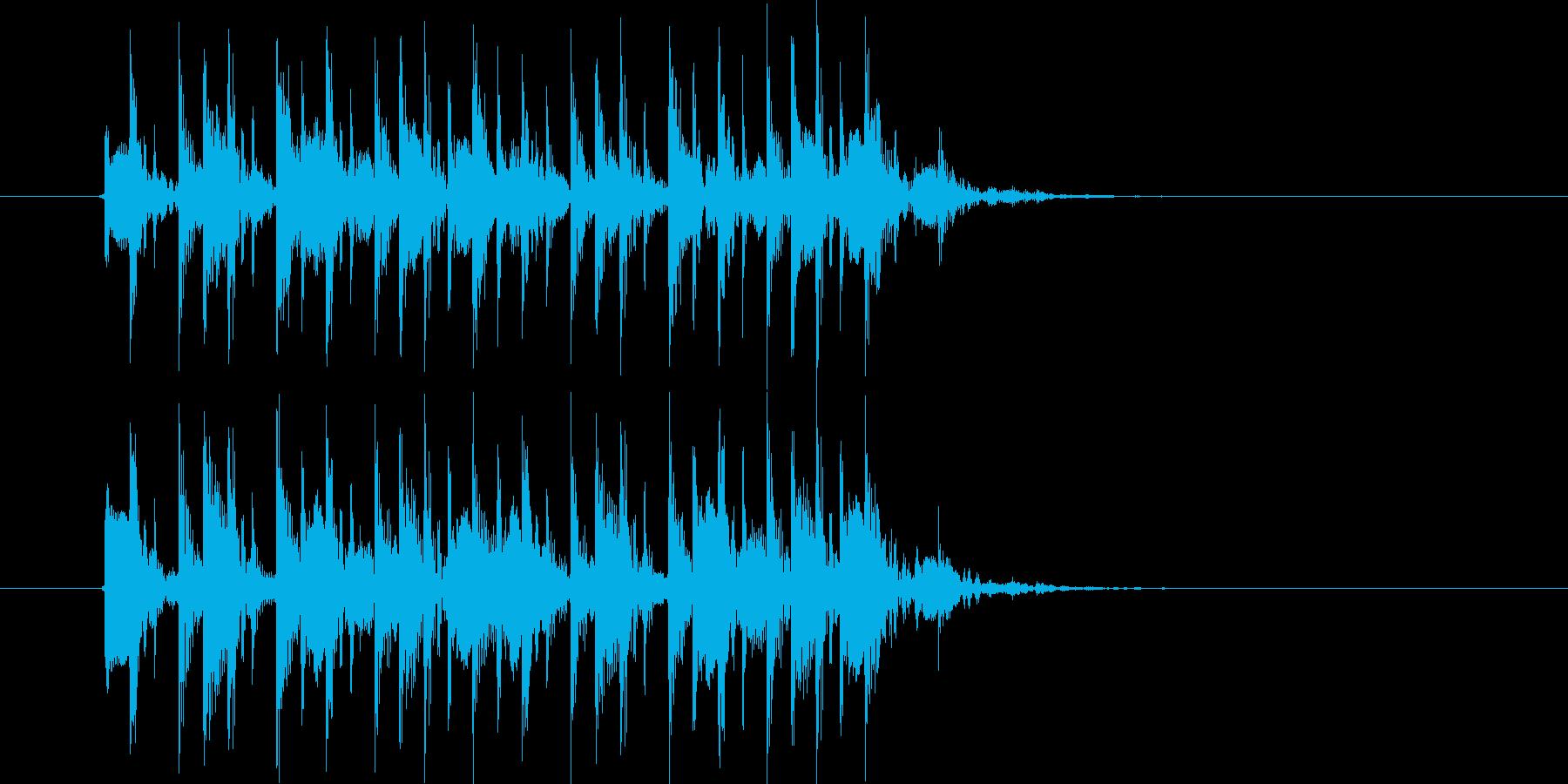 流暢で軽快なシンセジングルの再生済みの波形