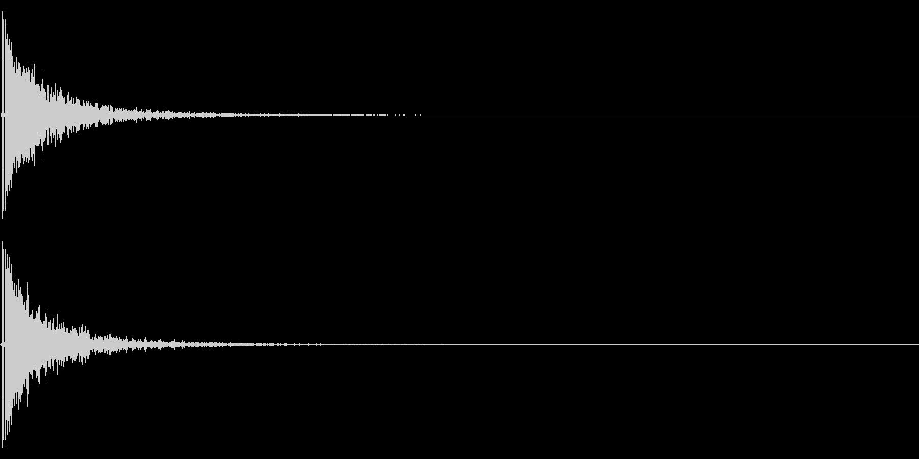 キーン(耳鳴りや、何かの知らせのSE)の未再生の波形