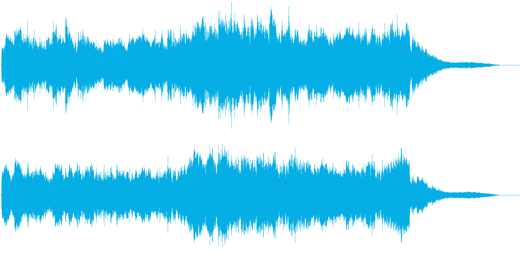 ピアノと弦楽器の哀愁系ジングルの再生済みの波形
