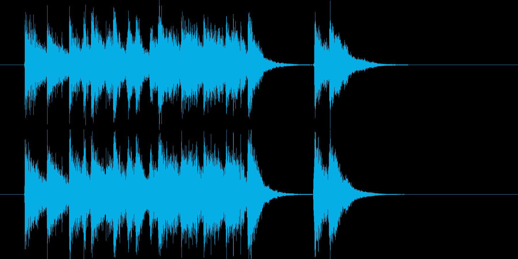 軽快なかけ声とポップなリズムの再生済みの波形