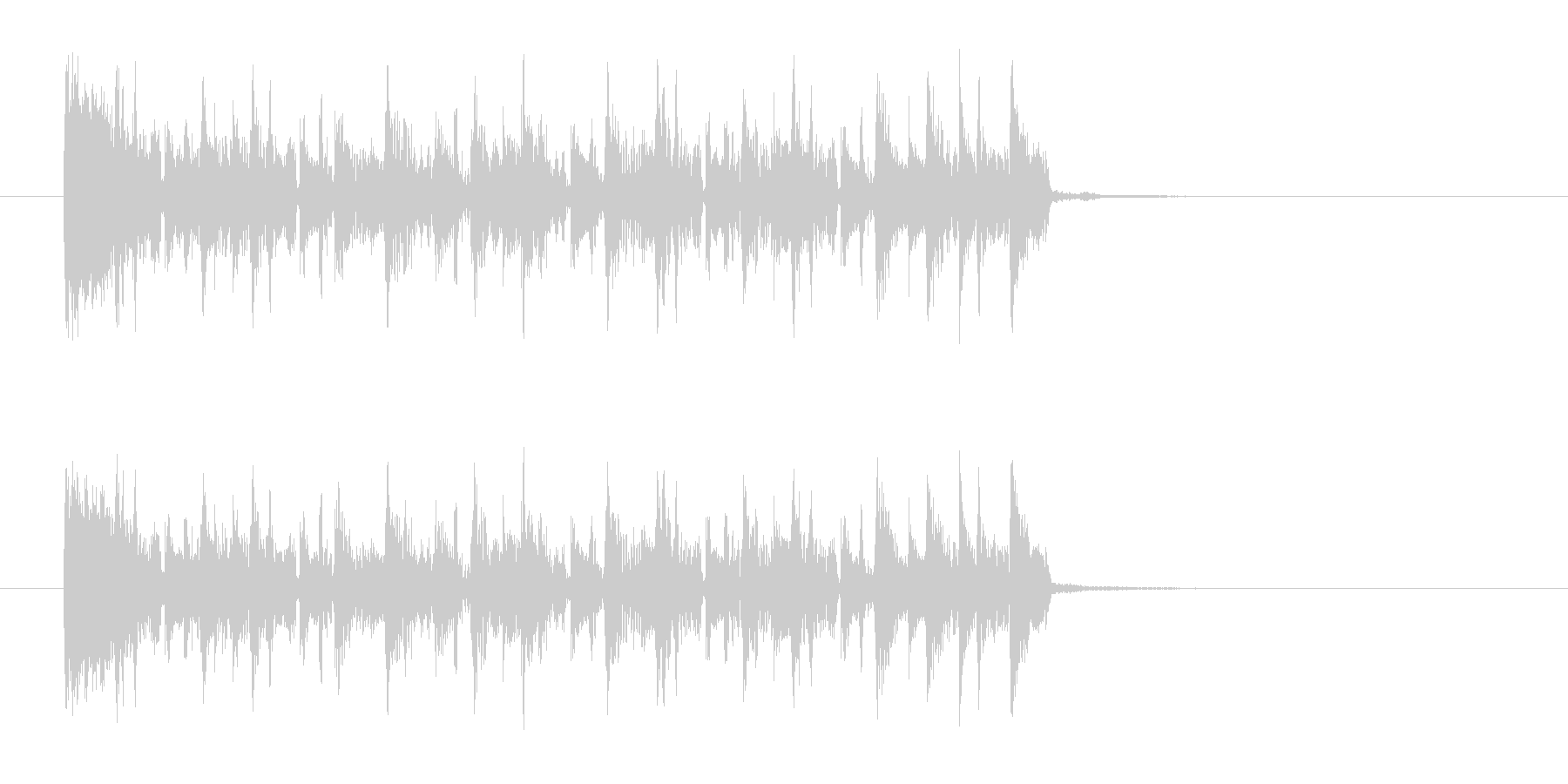 サンバ風なジングル曲、サウンドロゴの未再生の波形