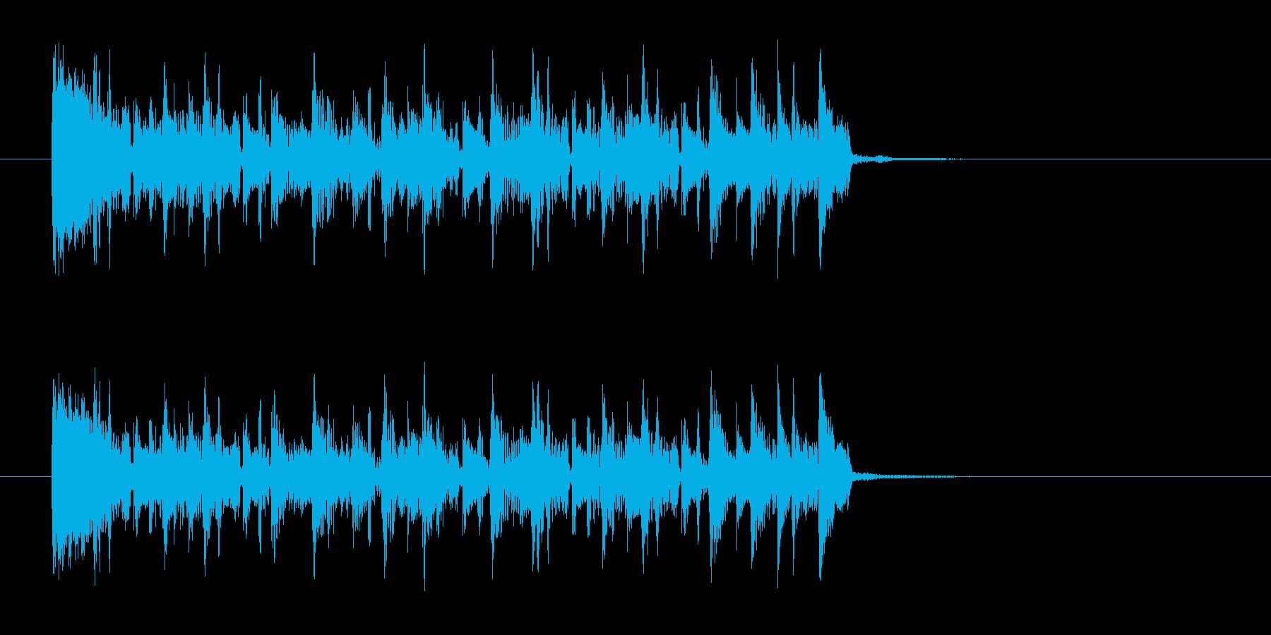 サンバ風なジングル曲、サウンドロゴの再生済みの波形