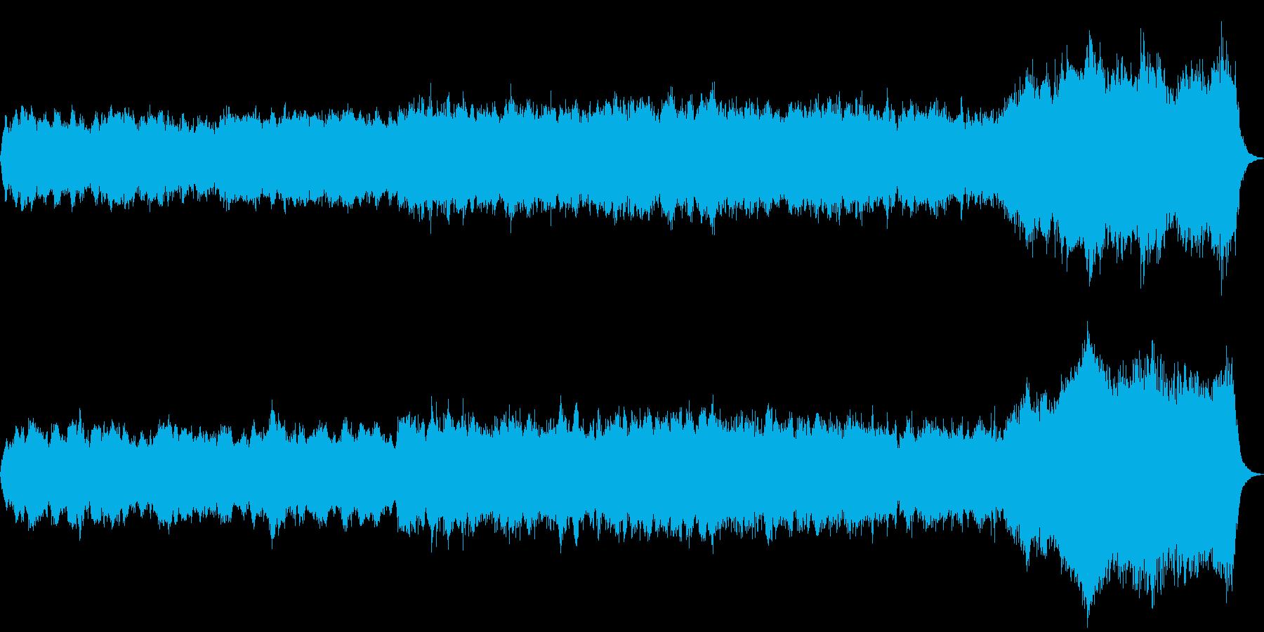 パイプオルガンオリジナル曲で哀愁感ありの再生済みの波形