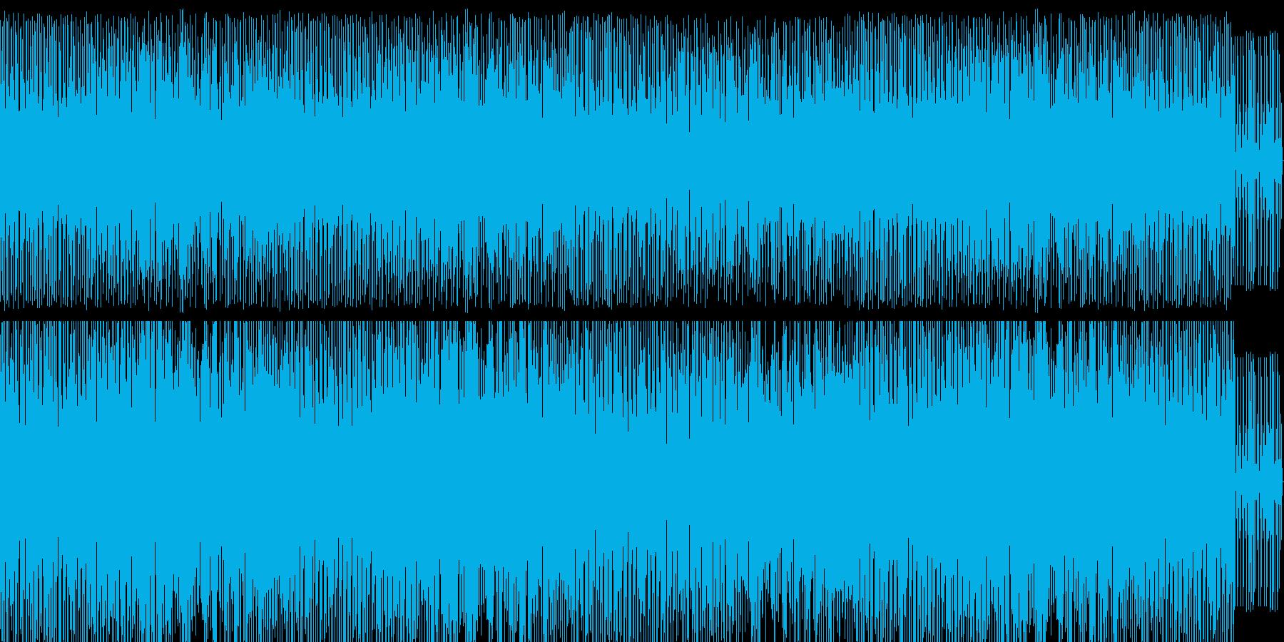 疾走感のある楽曲の再生済みの波形