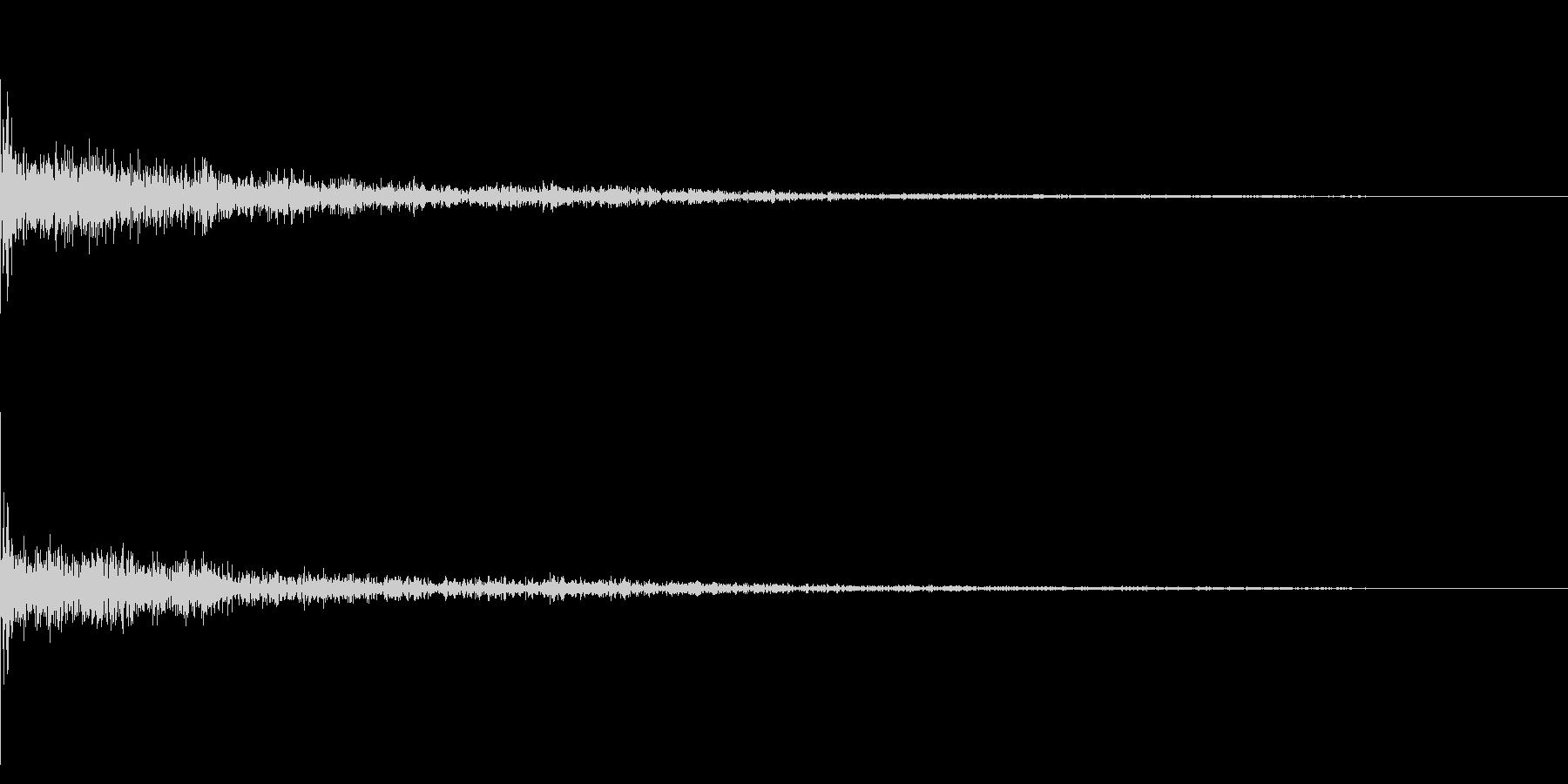 ホラー系アタック音40の未再生の波形