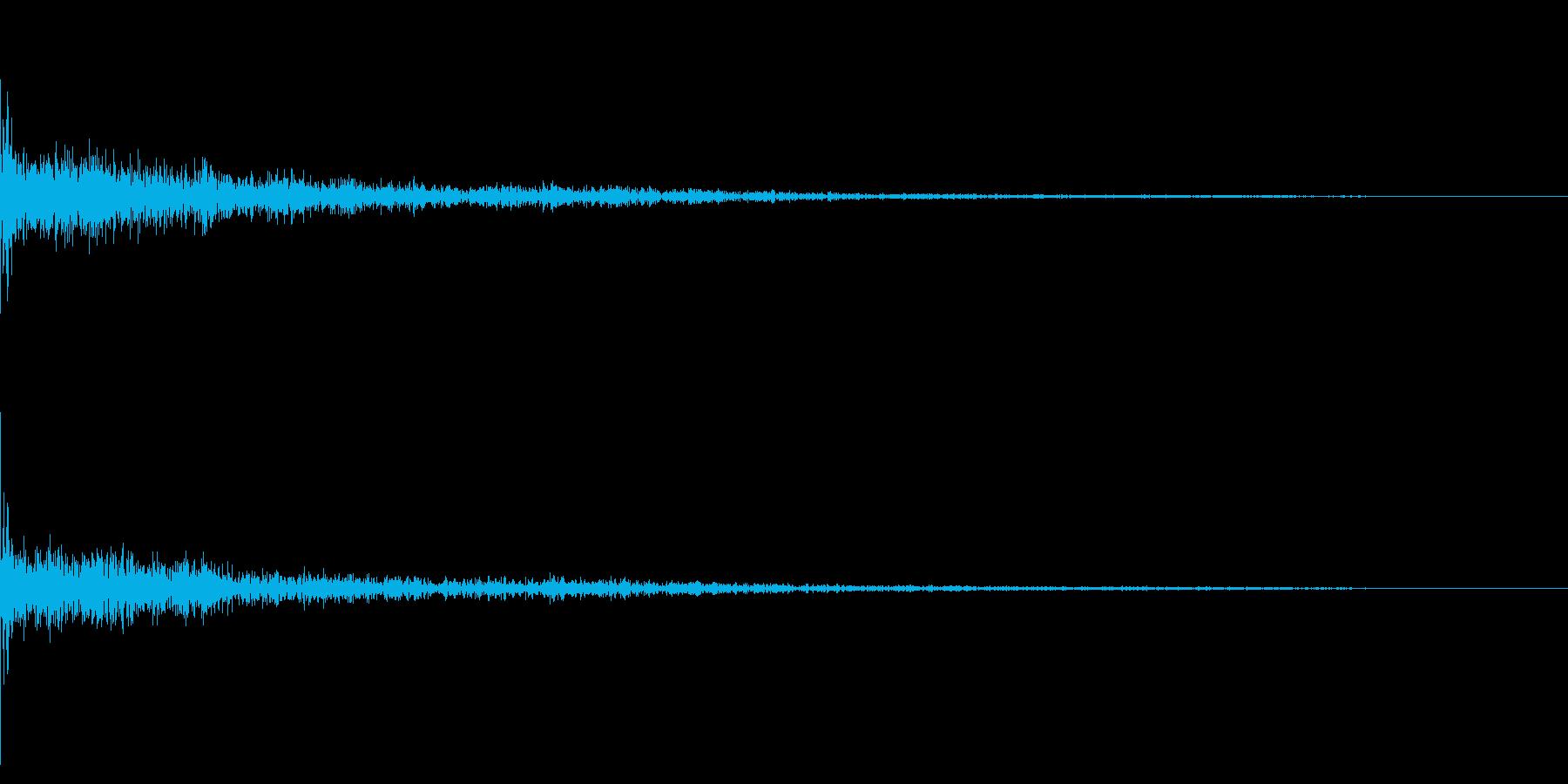 ホラー系アタック音40の再生済みの波形