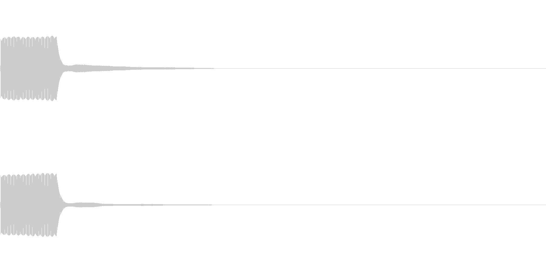 ピッ(バーコードリーダーやリモコン等に)の未再生の波形