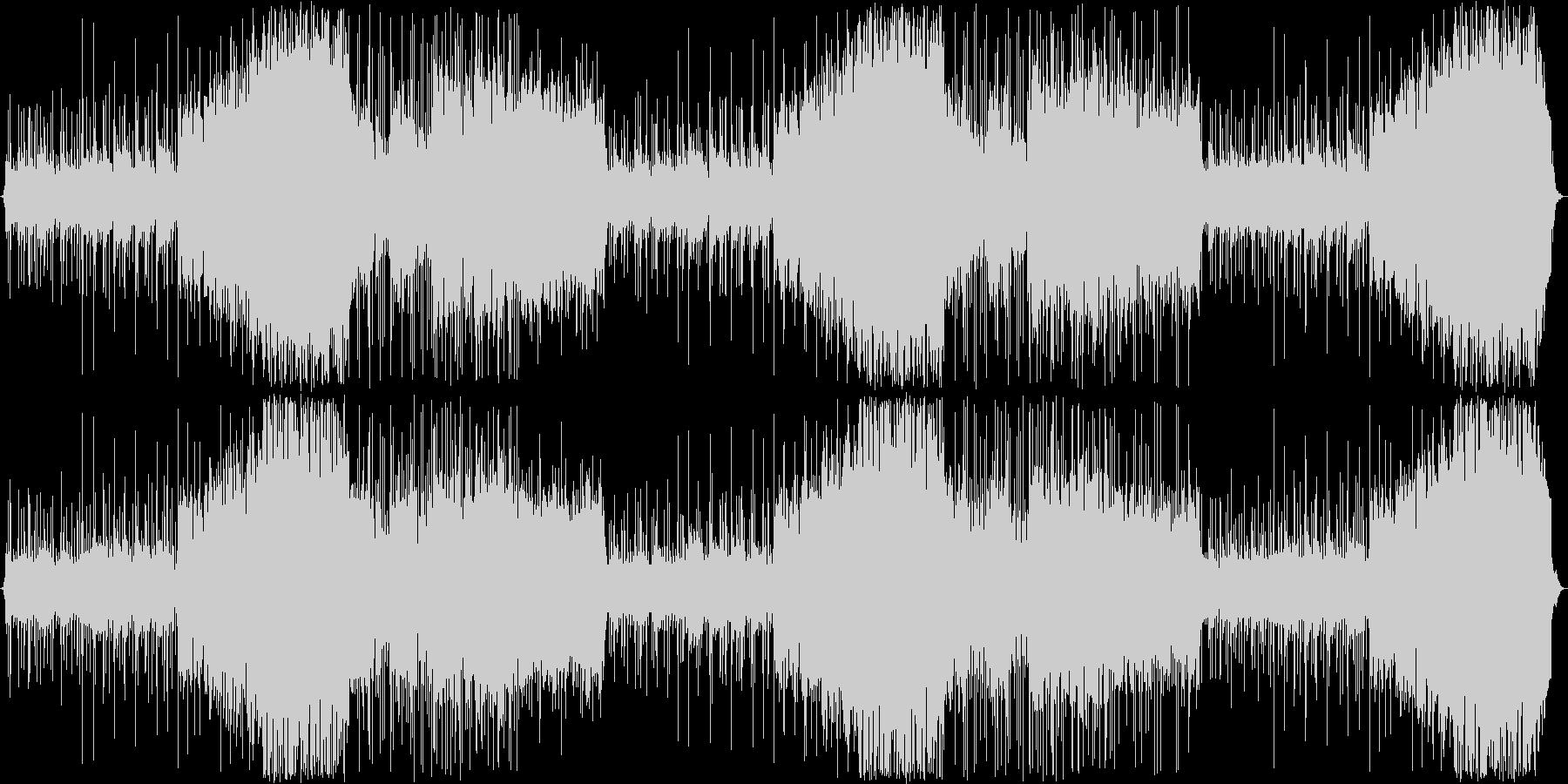 民族楽器を使った戦闘BGMの未再生の波形