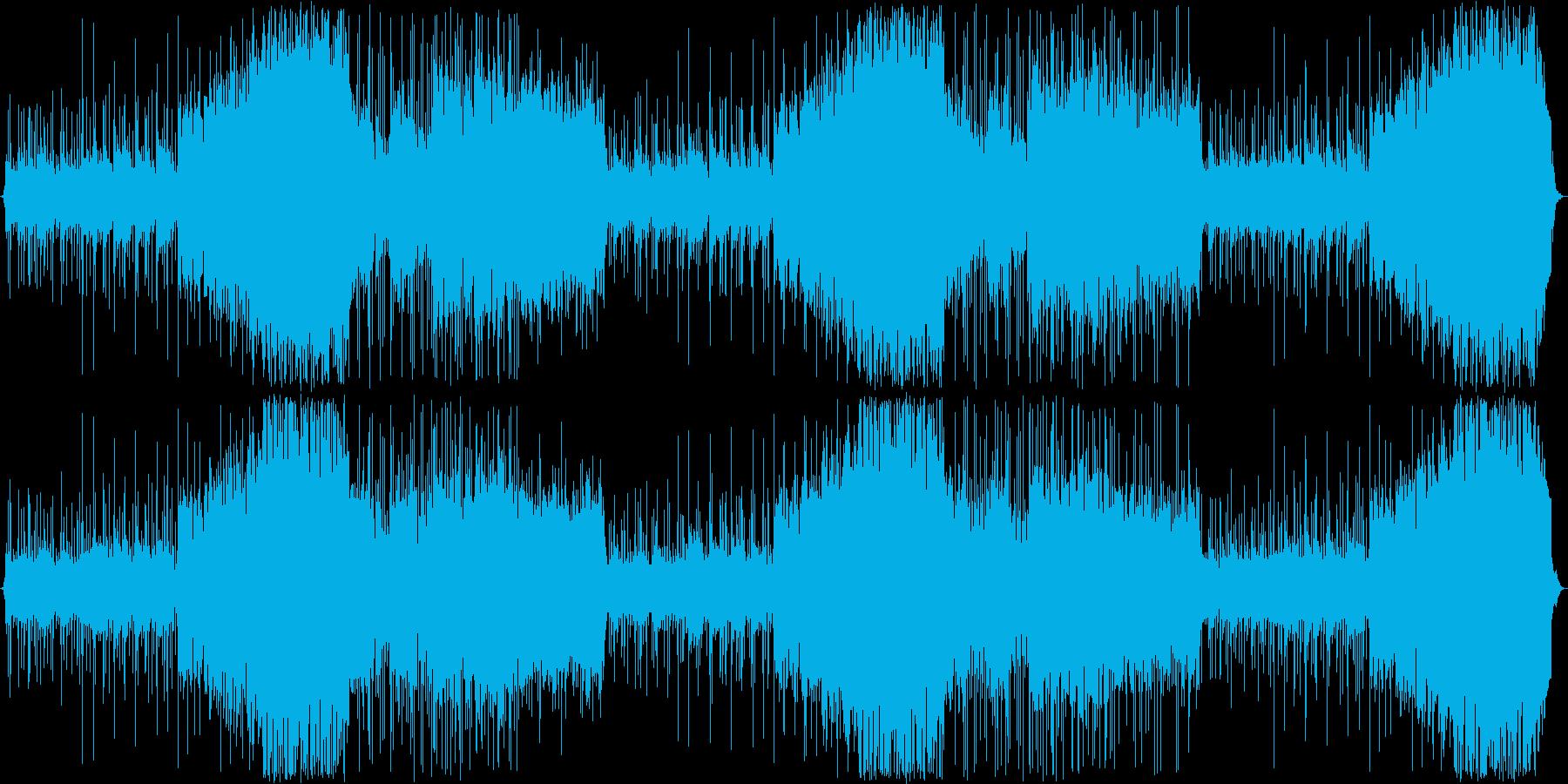 民族楽器を使った戦闘BGMの再生済みの波形