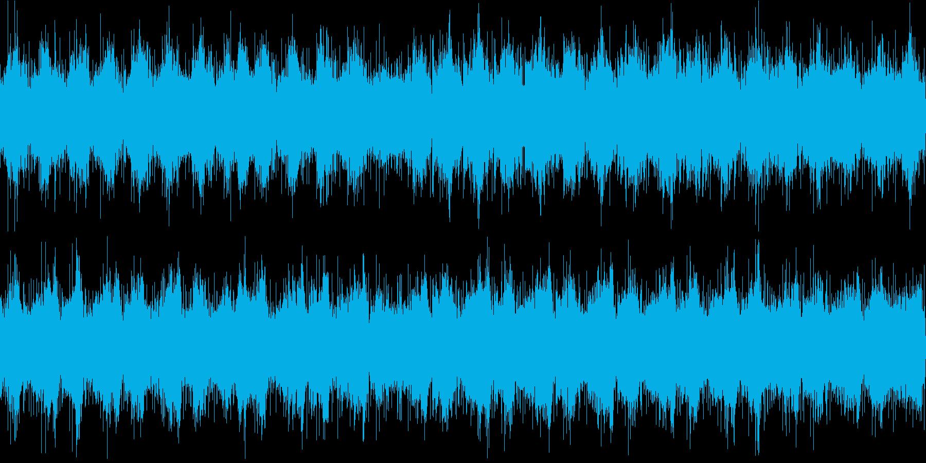 張り詰めた雰囲気のシリアスなBGMループの再生済みの波形