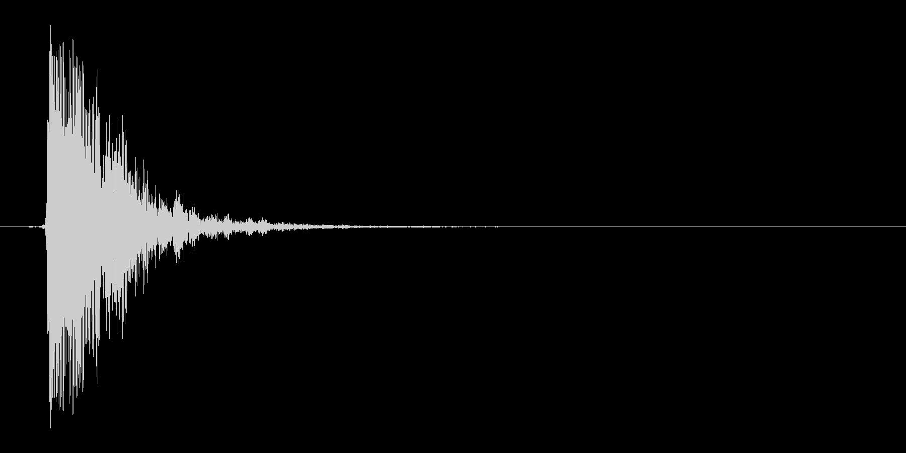 カン(鍛冶、ハンマー、叩く)の未再生の波形