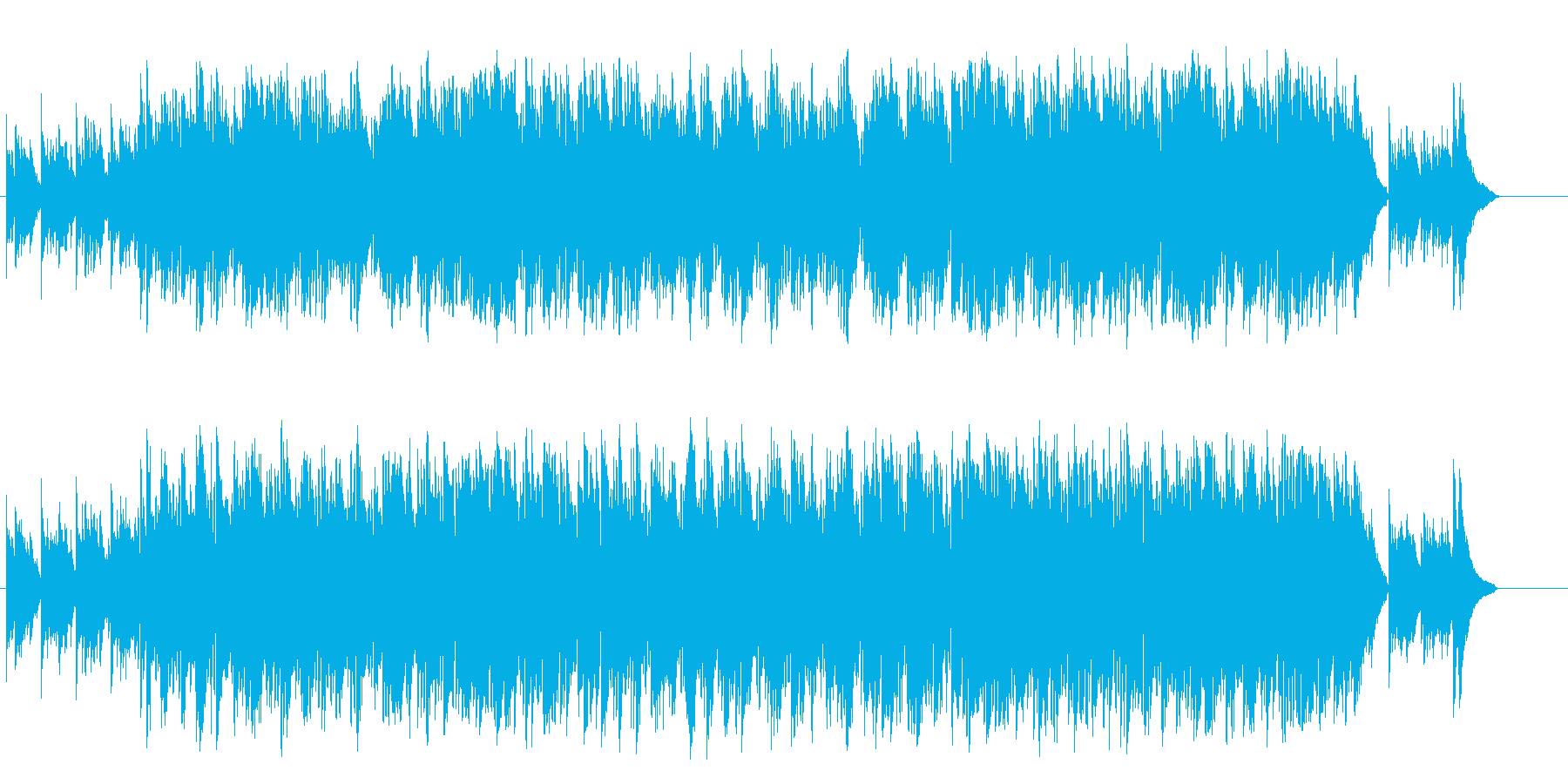 ノスタルジックなアコースティックの再生済みの波形