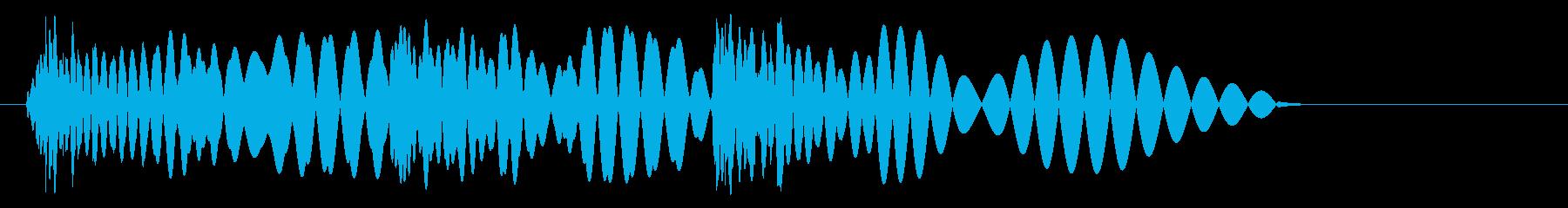 ドドッバンという効果音の再生済みの波形