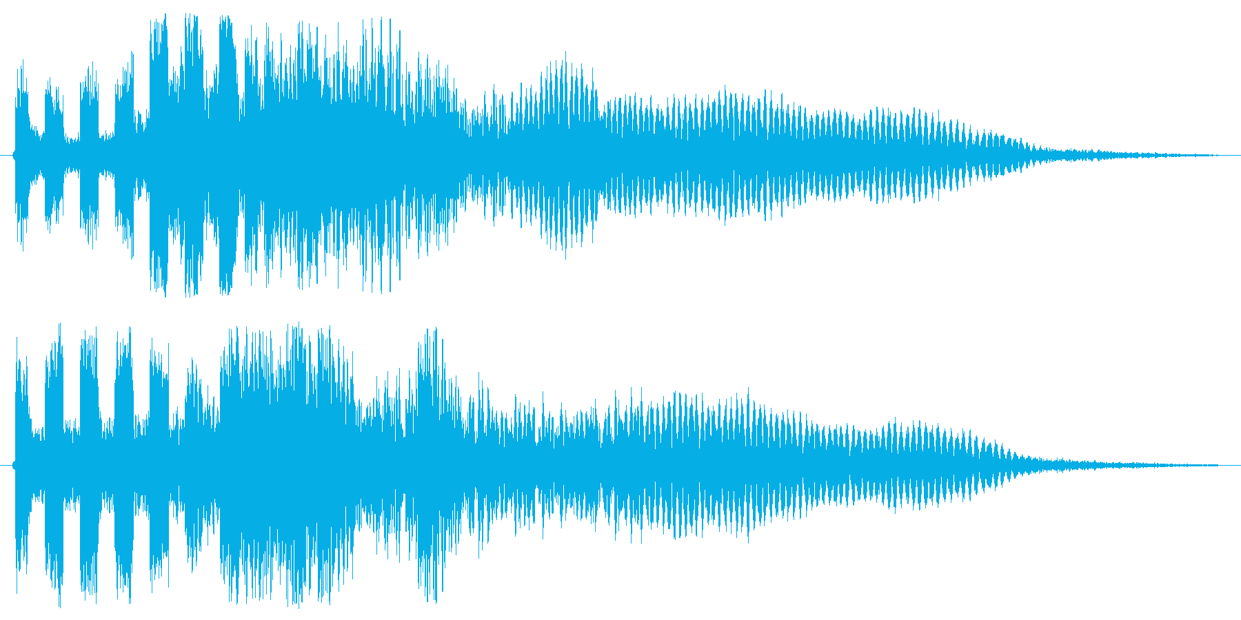 「ビュビュビュビュビューン(シンセ音)」の再生済みの波形