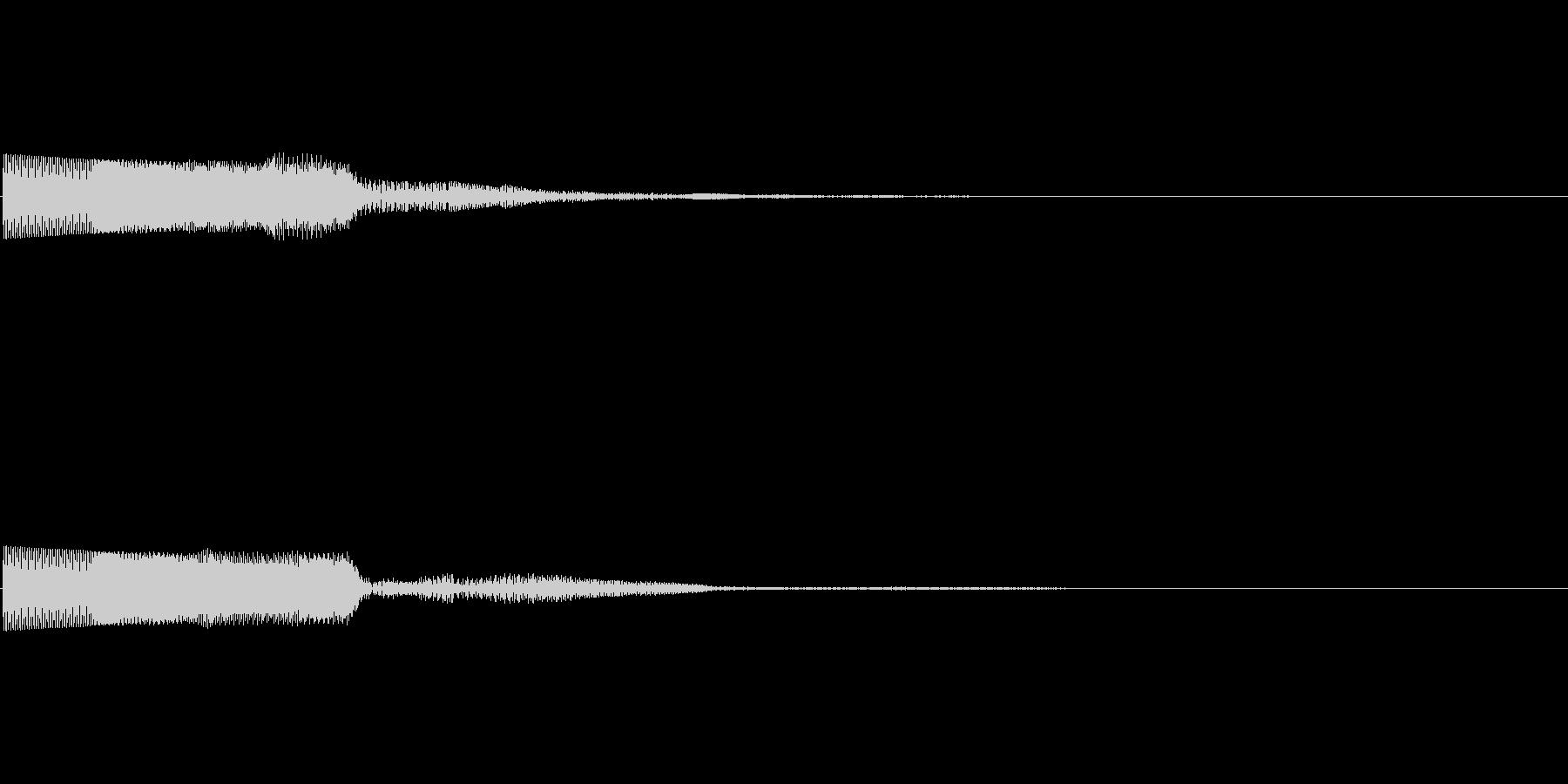ピコーン(ゲーム・アプリ等の項目決定音)の未再生の波形