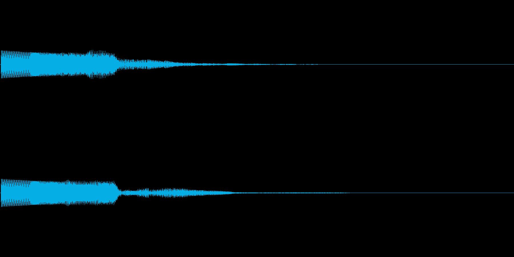ピコーン(ゲーム・アプリ等の項目決定音)の再生済みの波形