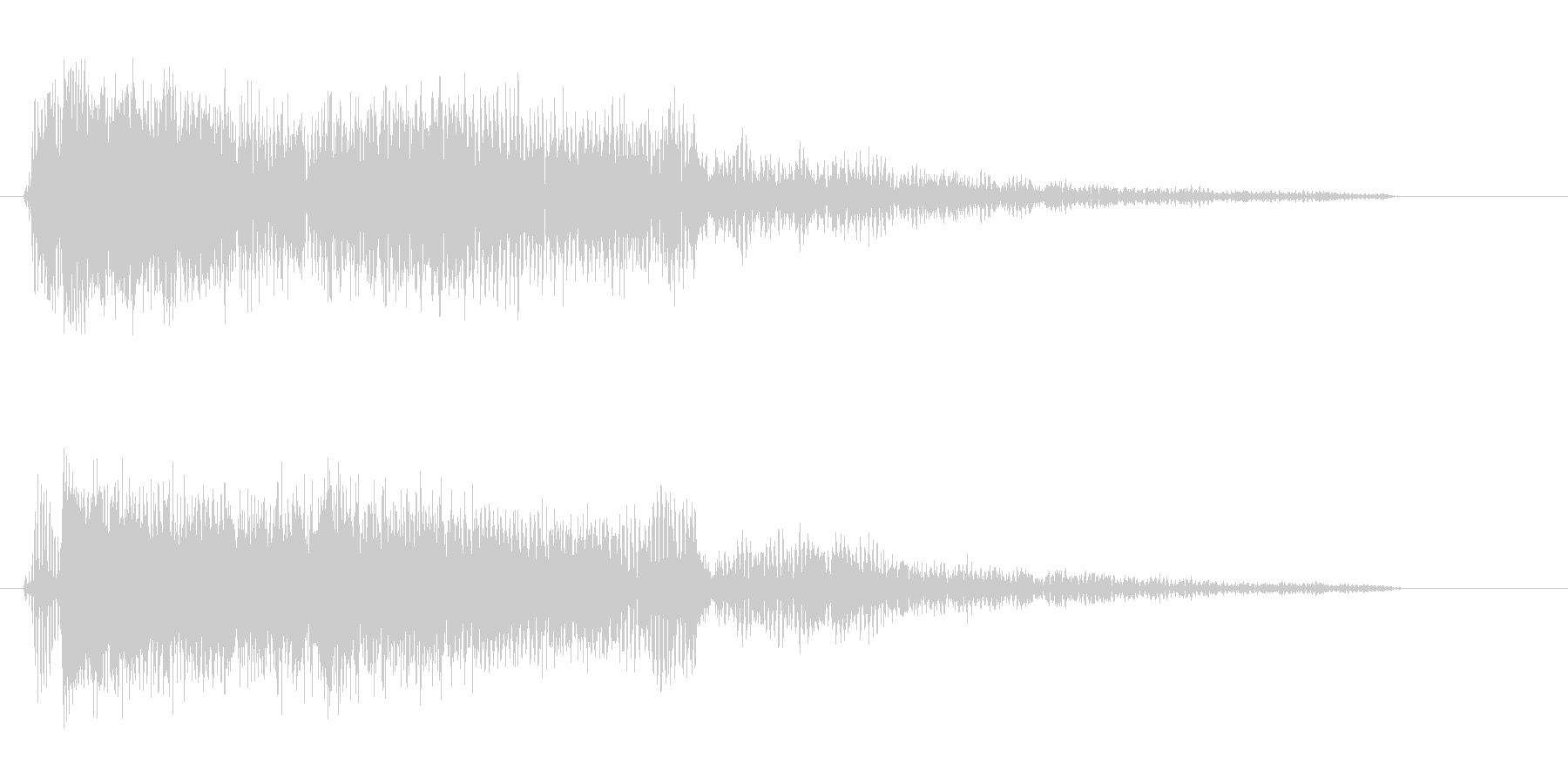 プアー(強めの効果音)の未再生の波形