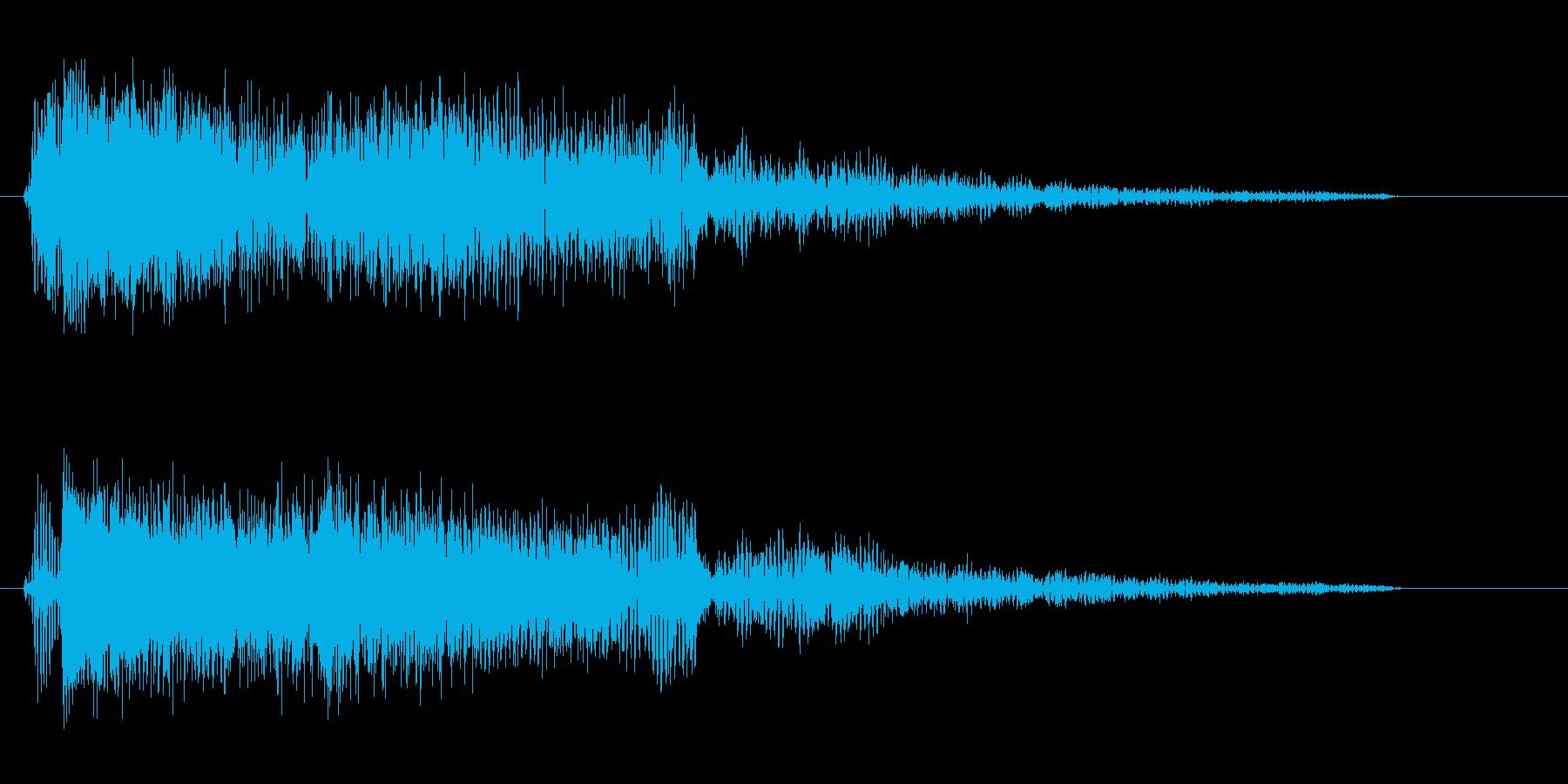 プアー(強めの効果音)の再生済みの波形