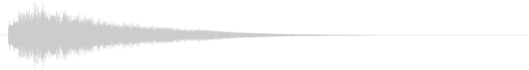 キラーン(ワンショット系)の未再生の波形