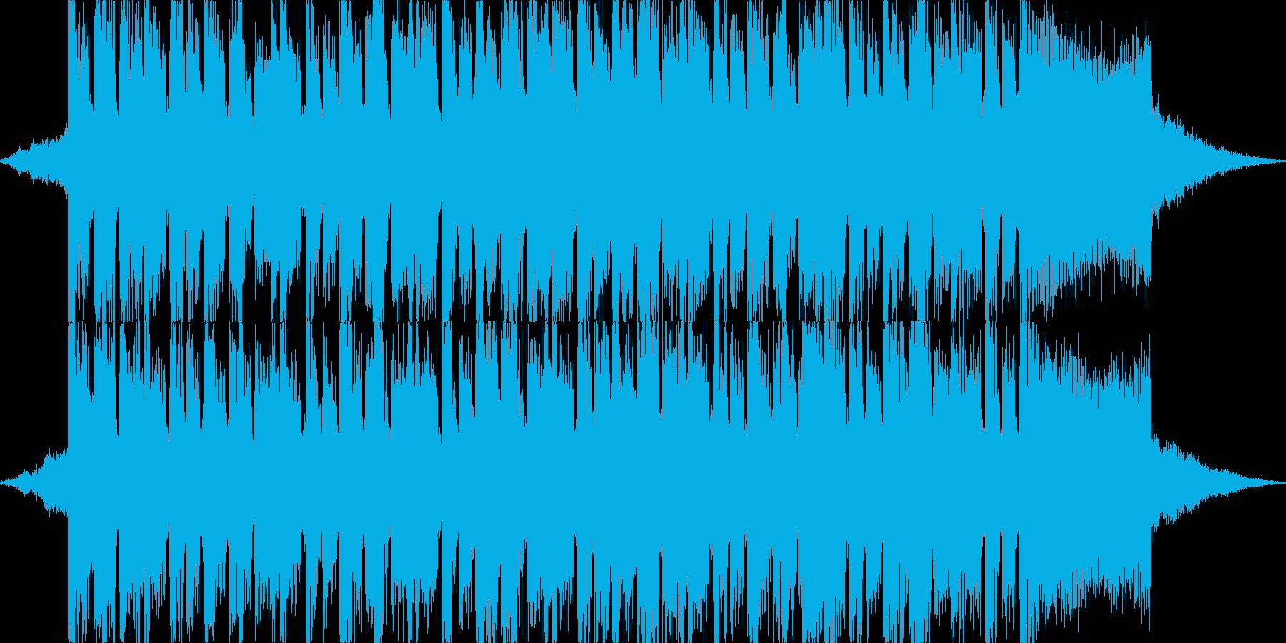 明るめな4つ打ちダンス系のジングルの再生済みの波形