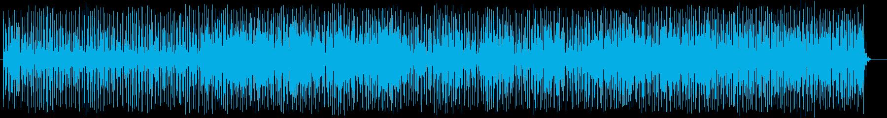 近未来感のあるシンセサイザーテクノの再生済みの波形