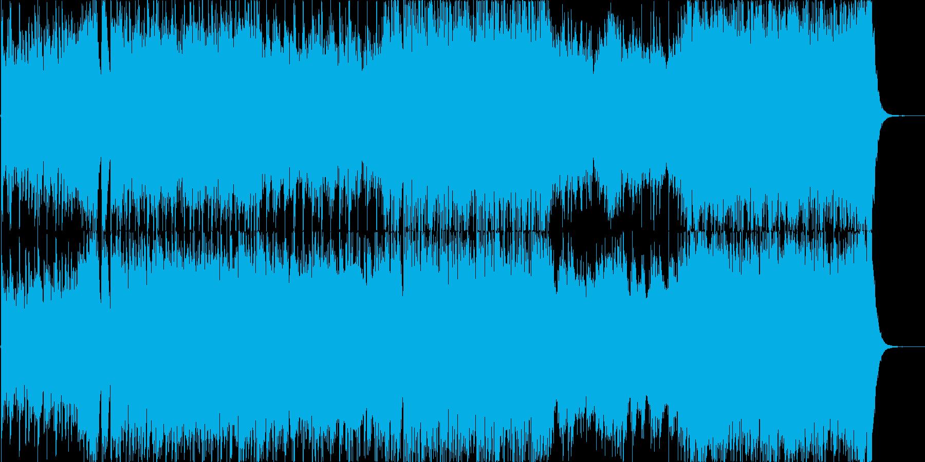 ドラマチックで情熱的なオーケストラ風の曲の再生済みの波形