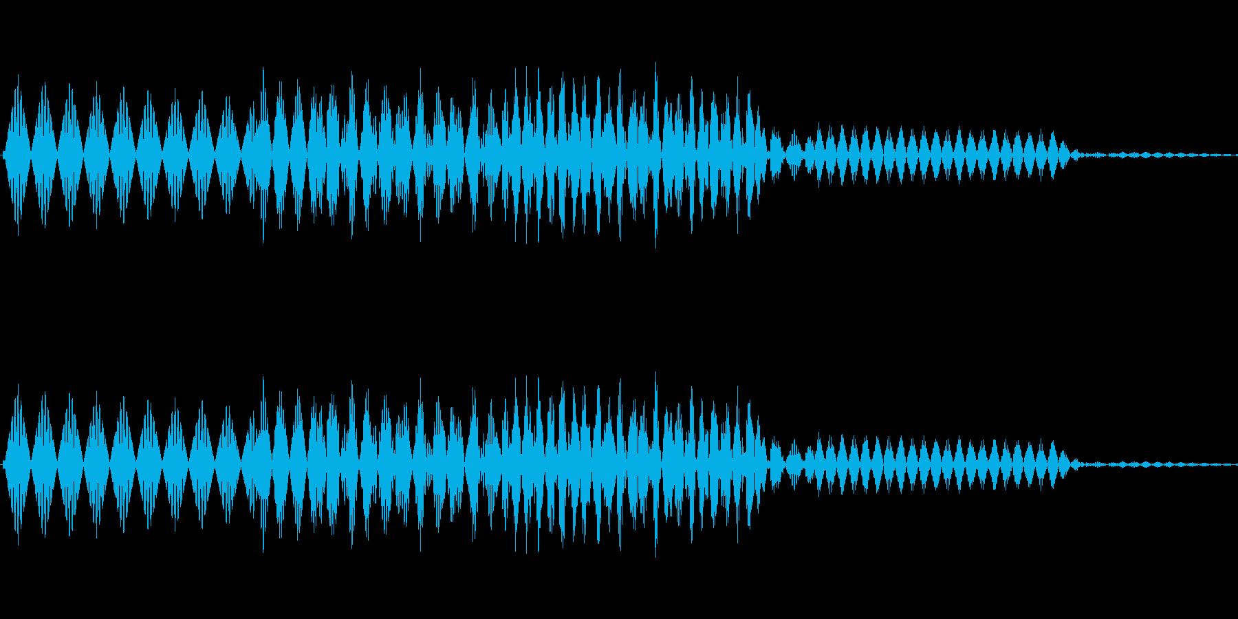 ボタン決定音システム選択タッチ登録C01の再生済みの波形