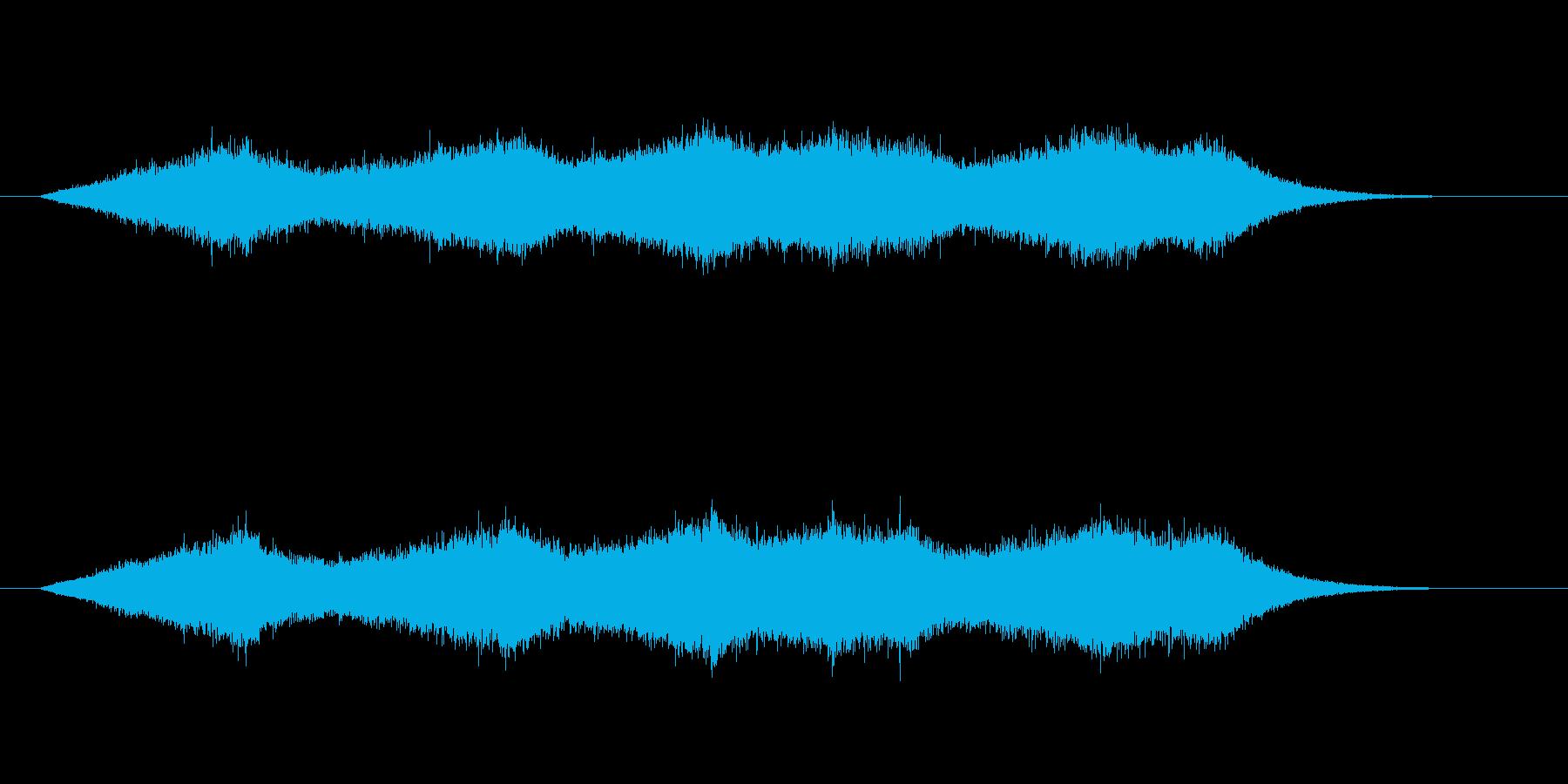少し強い波の音の再生済みの波形