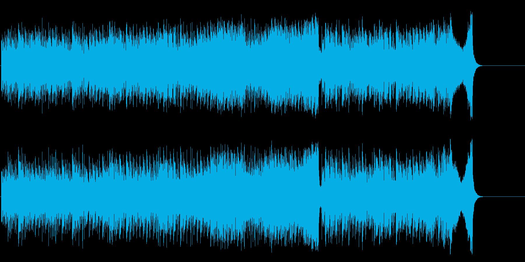 夜の都会のスリリングなマイナーロックの再生済みの波形