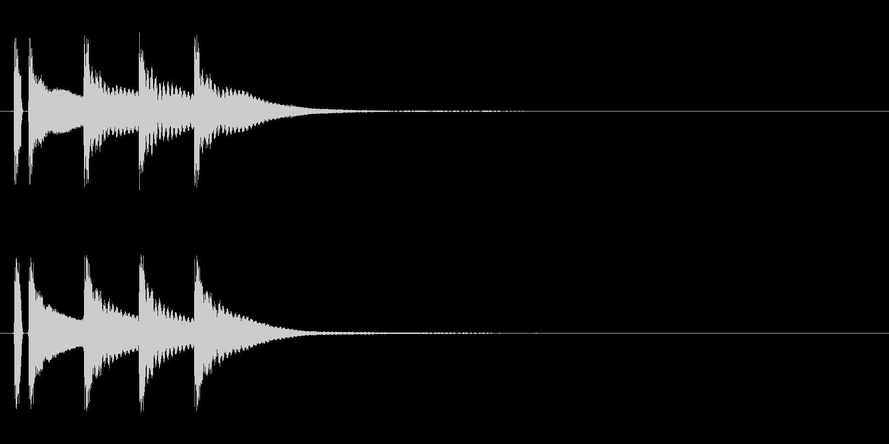 マリンバ。正解した時の音。の未再生の波形