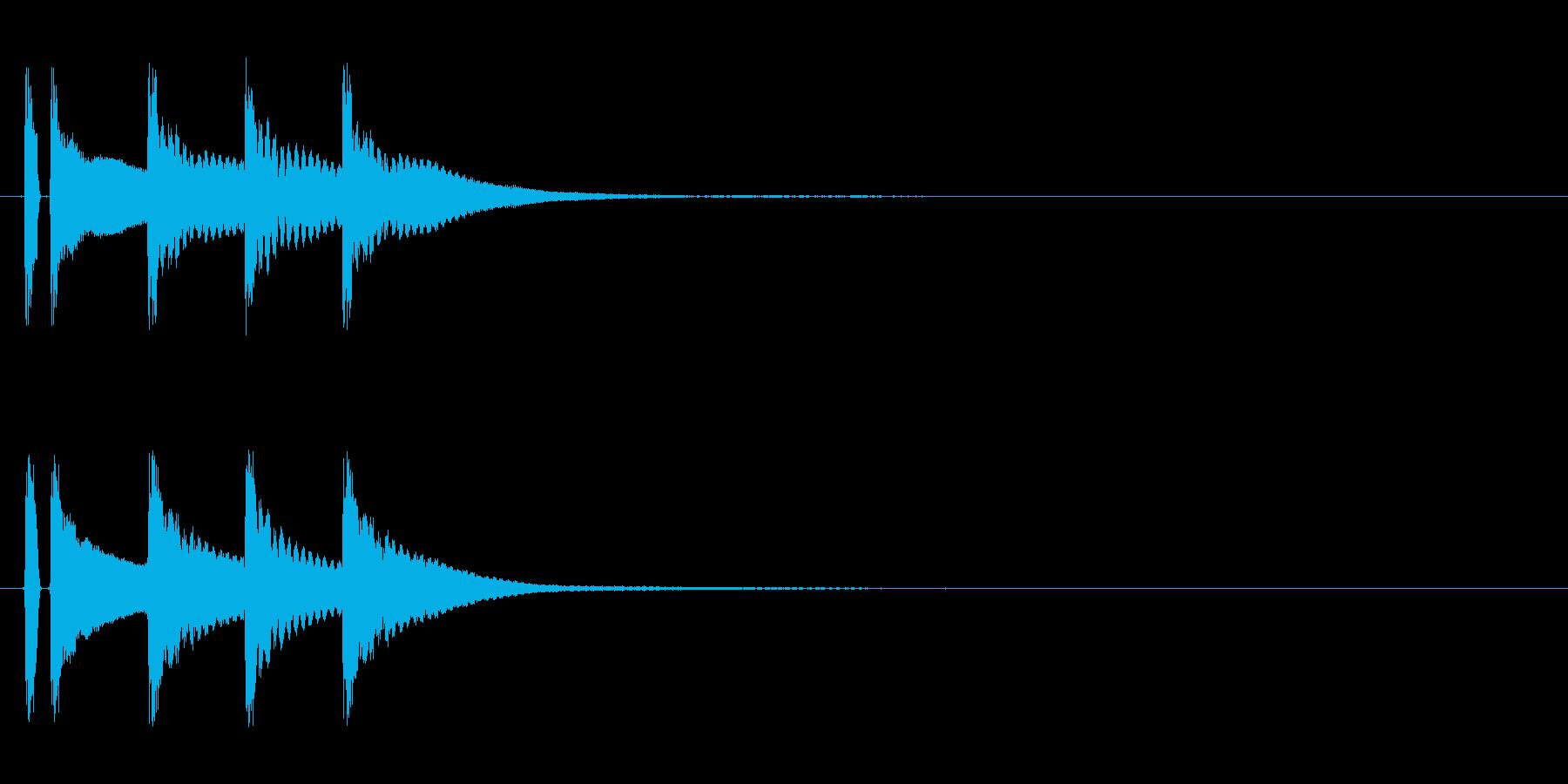 マリンバ。正解した時の音。の再生済みの波形