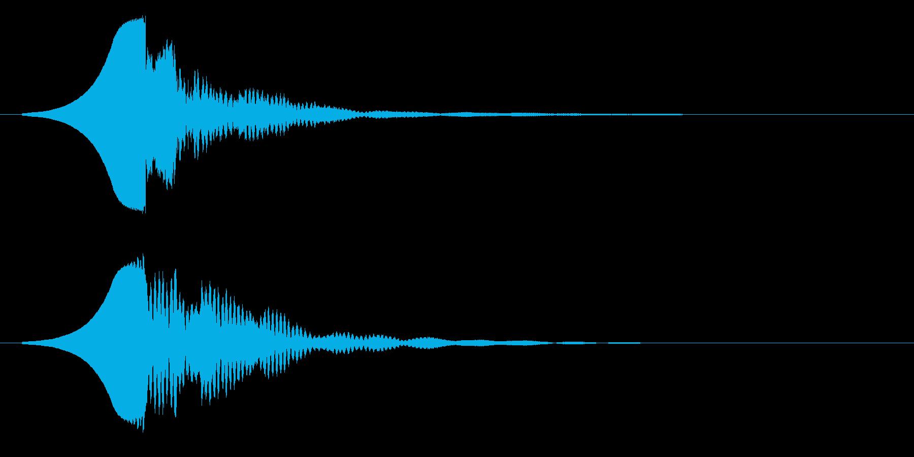 クゥーコーンの再生済みの波形