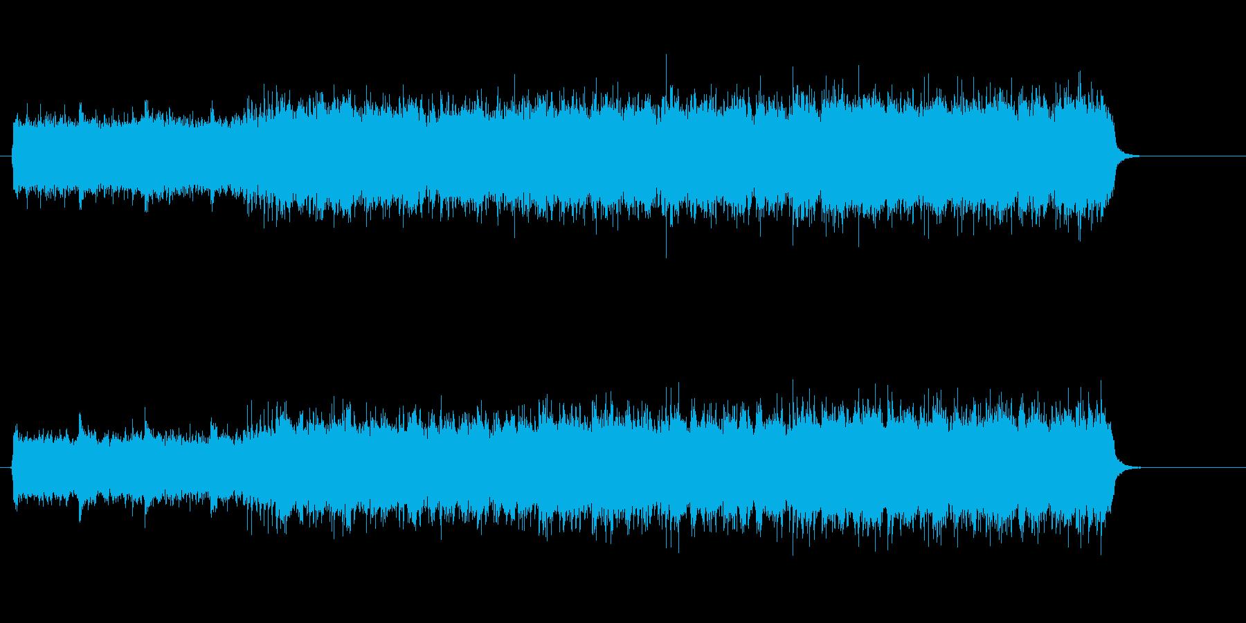 直線的なギターが炸裂するハードなロックの再生済みの波形