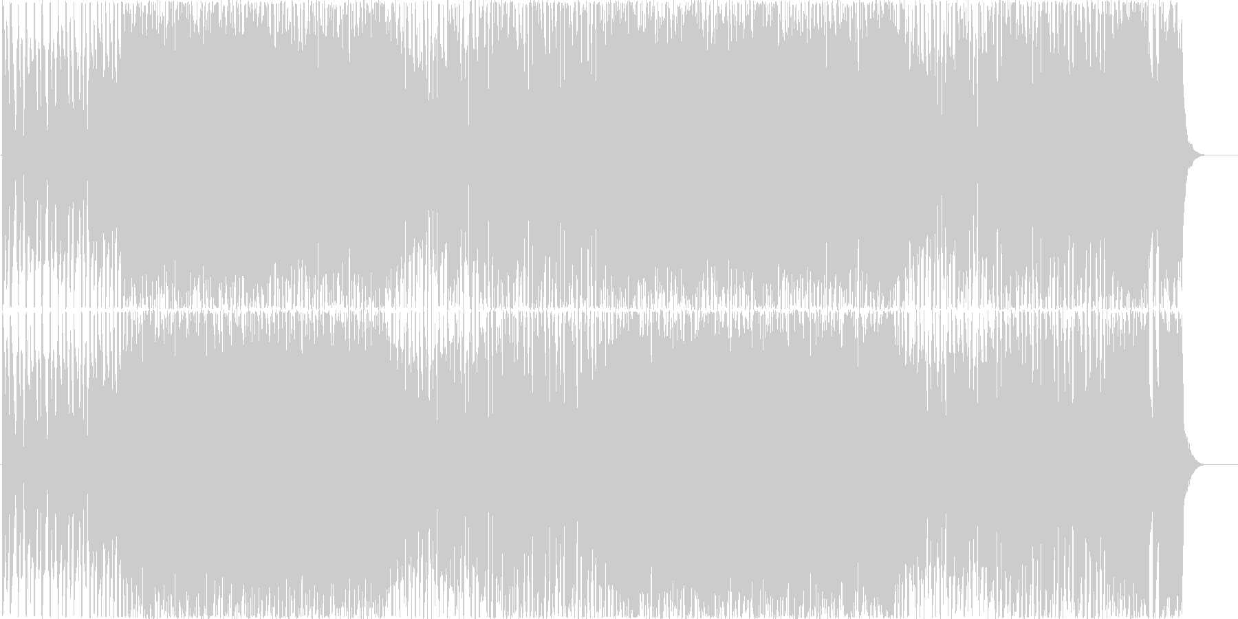 E.Guiterで夏イメージしたrockの未再生の波形