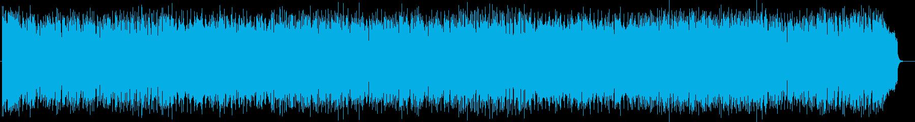 未来的なシンセサイザーのテクノポップの再生済みの波形