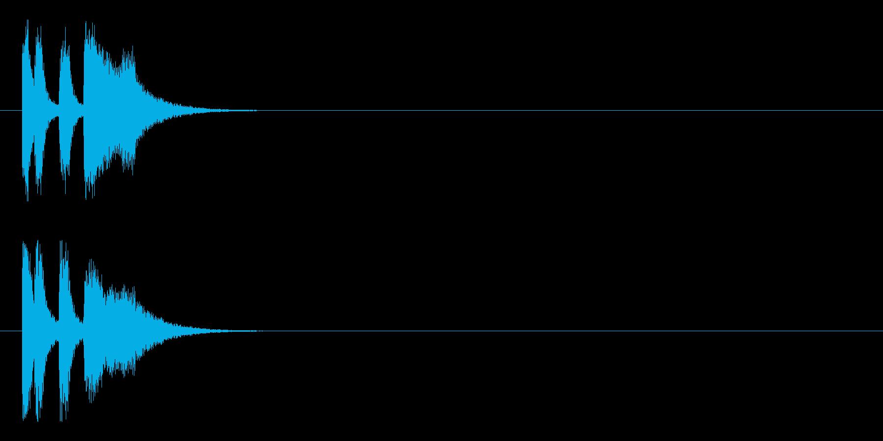 クイズ コミカル イベント コントの再生済みの波形