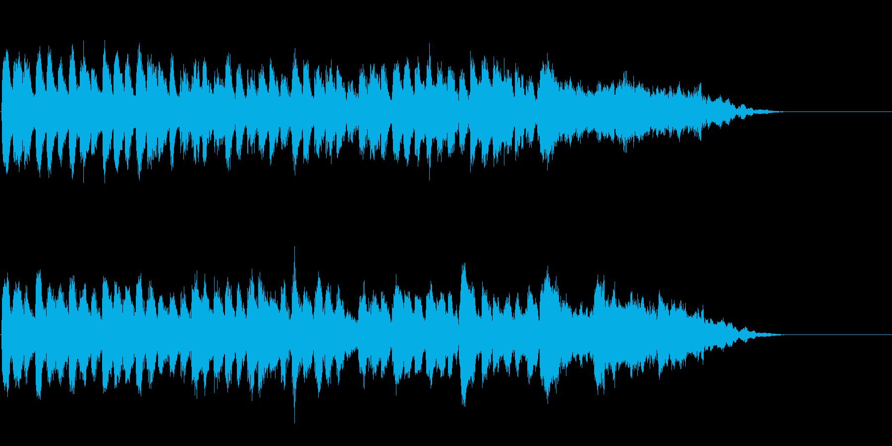 CM向け尺、爽やか軽やかな雰囲気の曲の再生済みの波形