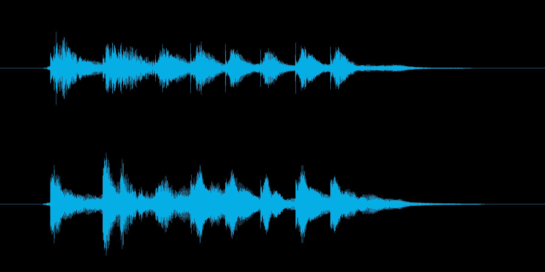 少し心が動いた時の音の再生済みの波形