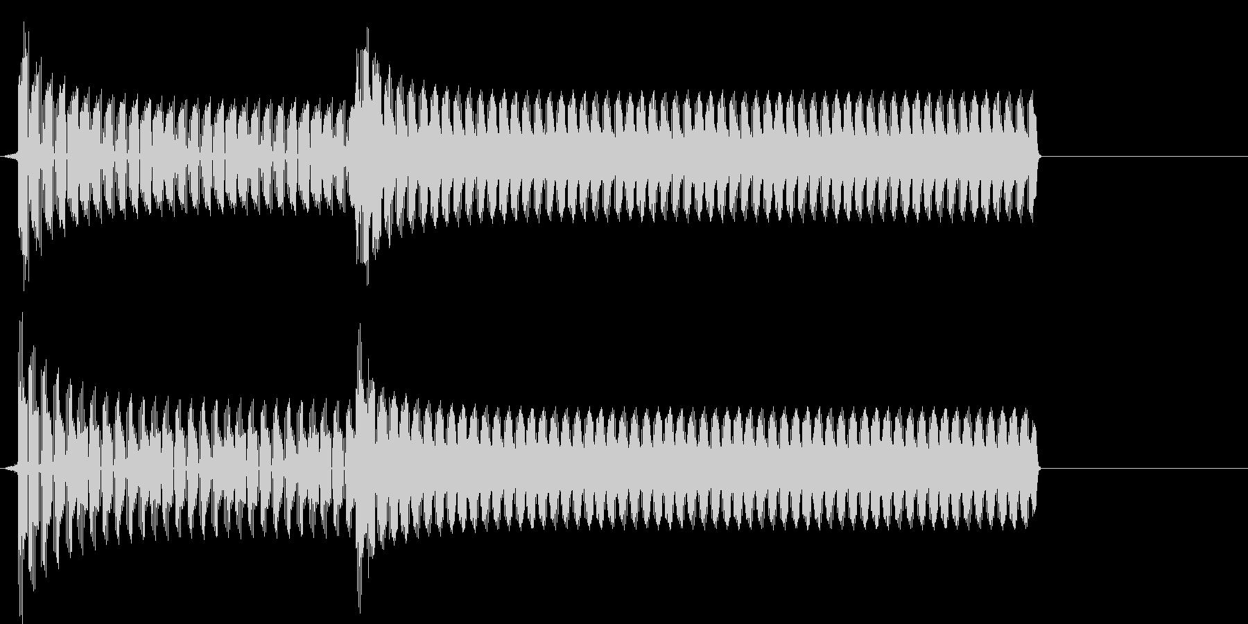 トーテー(ゲームオーバー、不正解)の未再生の波形