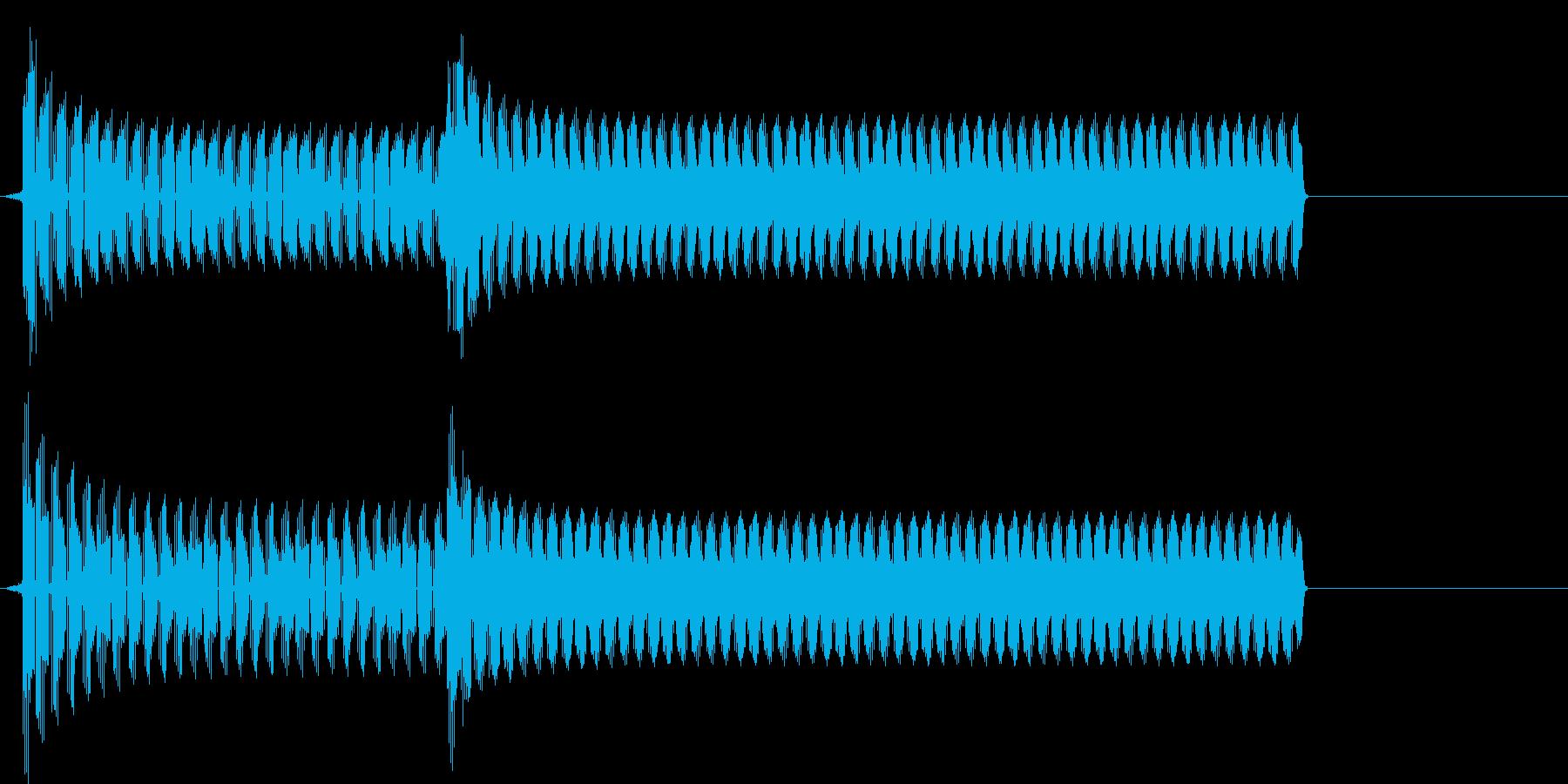 トーテー(ゲームオーバー、不正解)の再生済みの波形