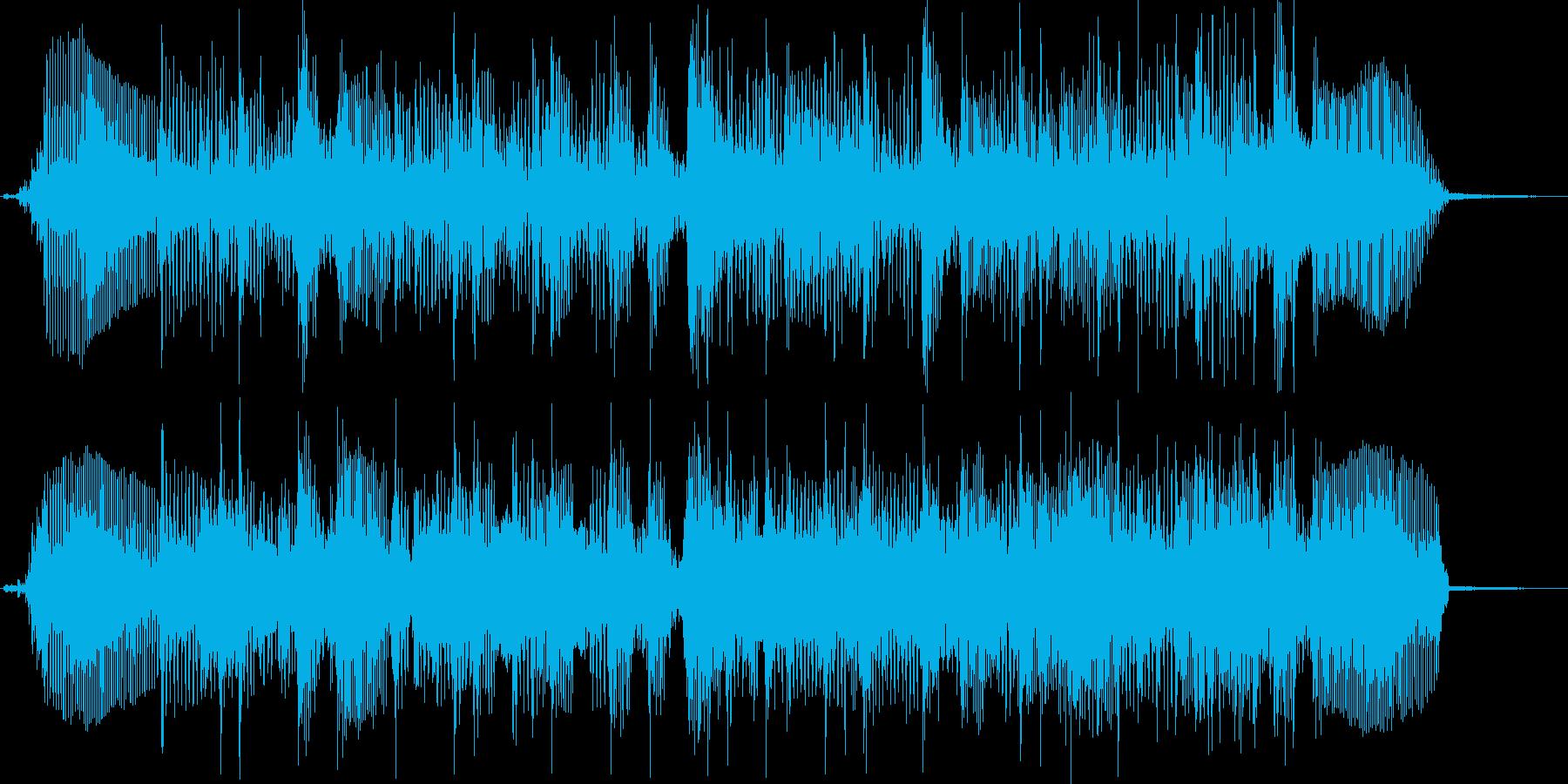 ベースサウンドジングル曲の再生済みの波形