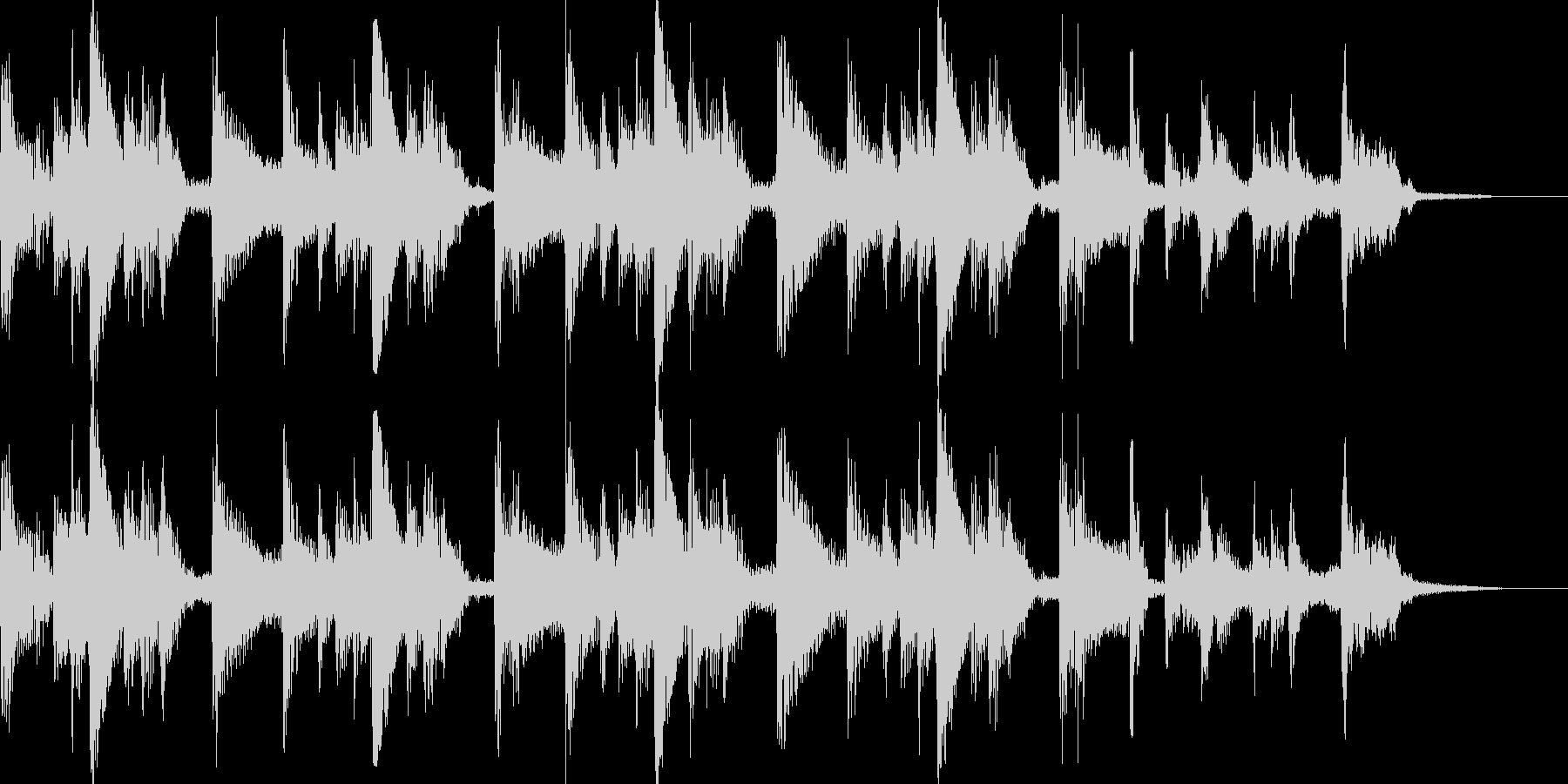 アコギが奏でるBGMの未再生の波形