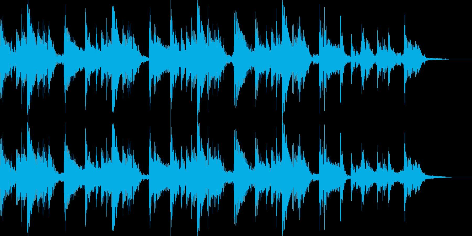 アコギが奏でるBGMの再生済みの波形