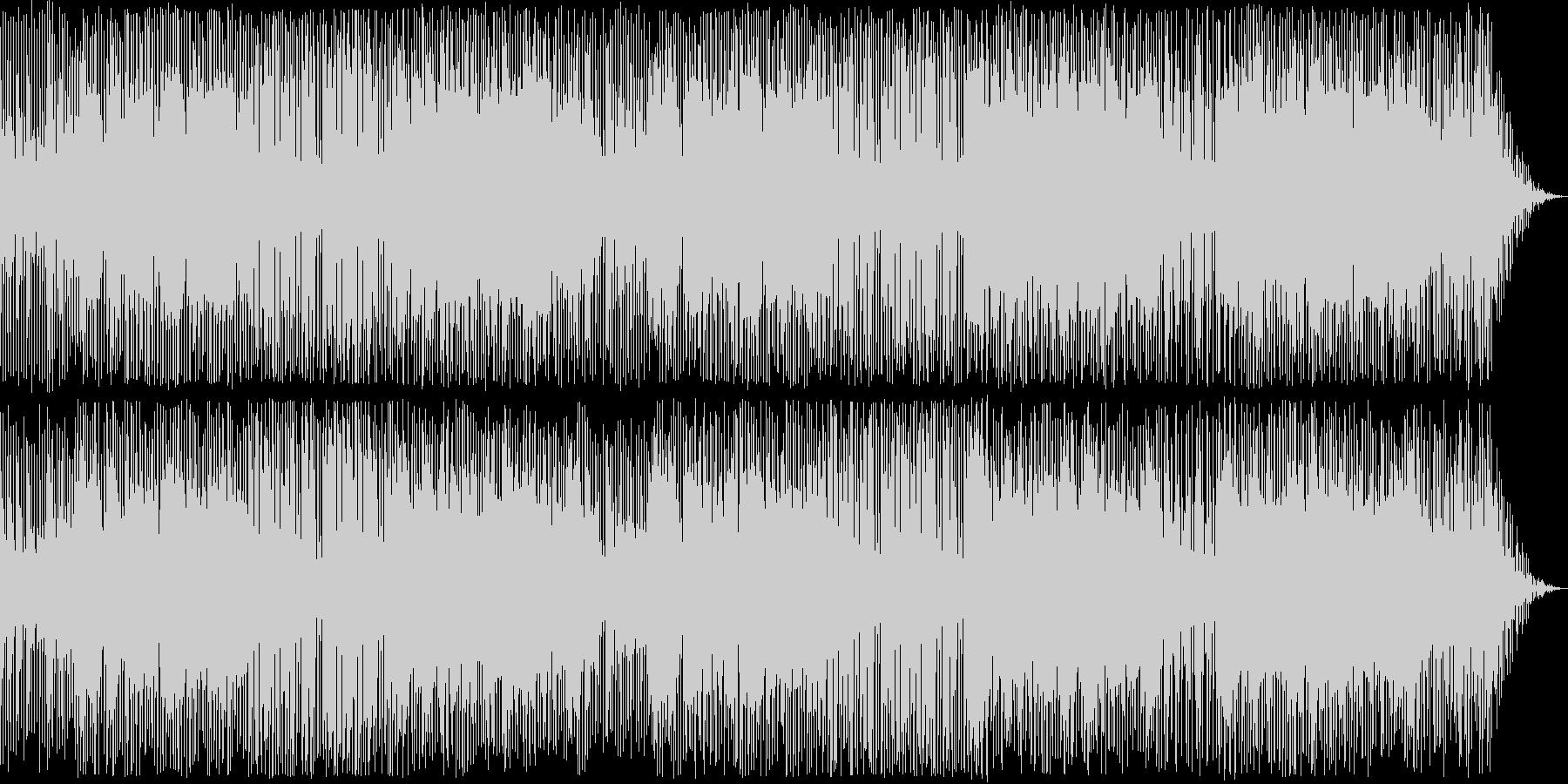ピアノが印象的なロックの未再生の波形